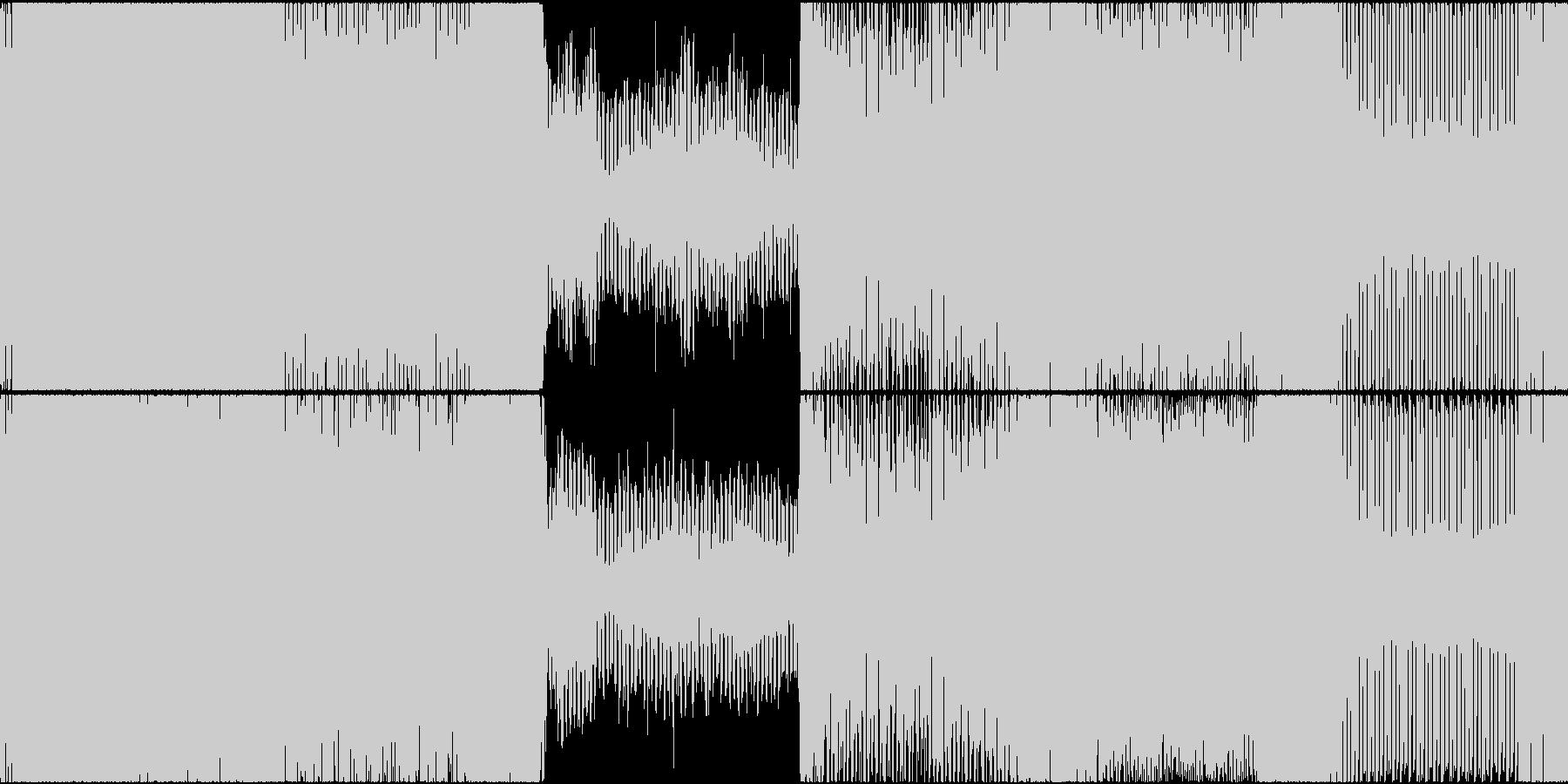 トランス ハウス 神秘的 EDM ゲームの未再生の波形
