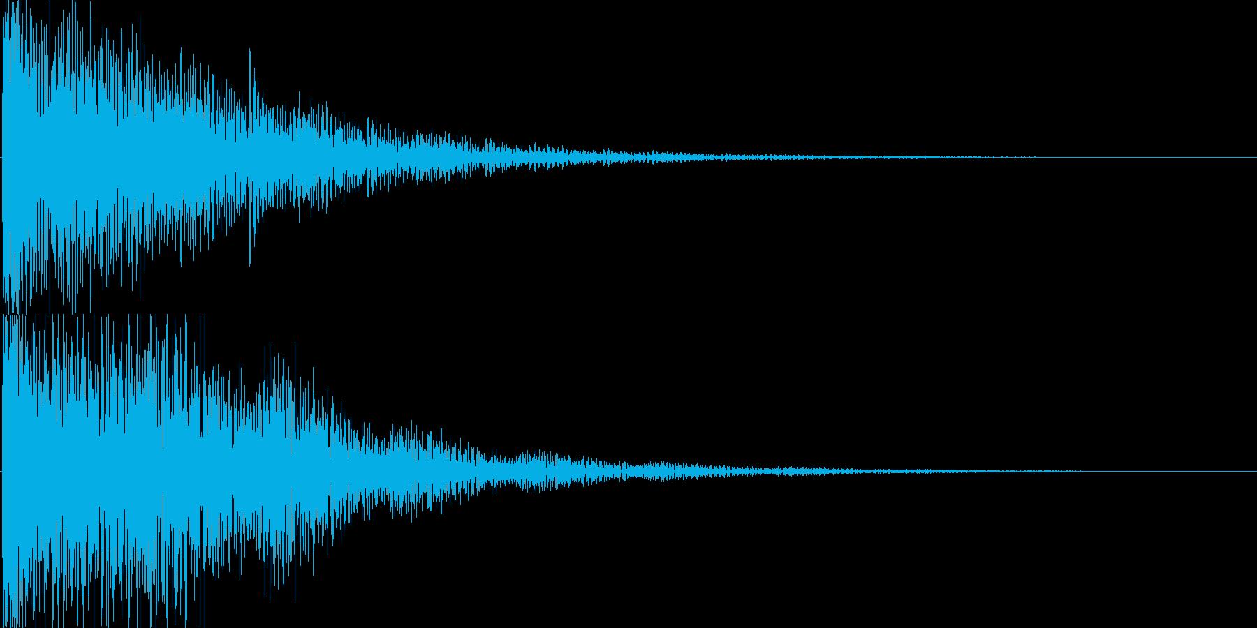 ゲーム、アプリ等の決定音、アイテム入手音の再生済みの波形