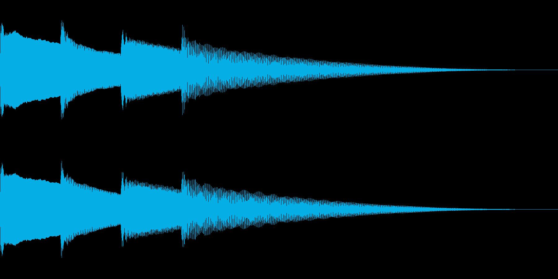 呼び出しベル 下降(ピンポンパンポーン)の再生済みの波形