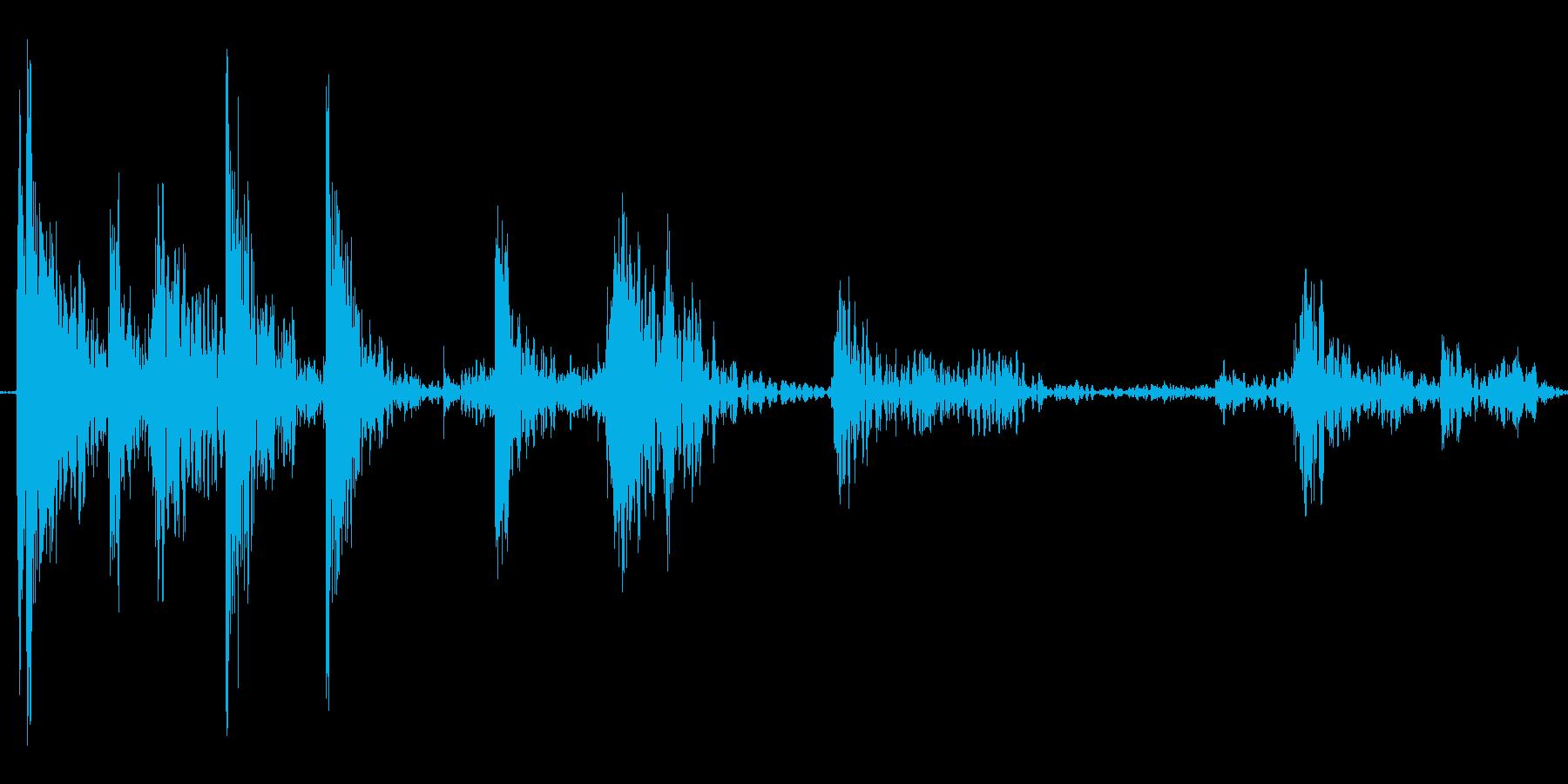 落下音の再生済みの波形