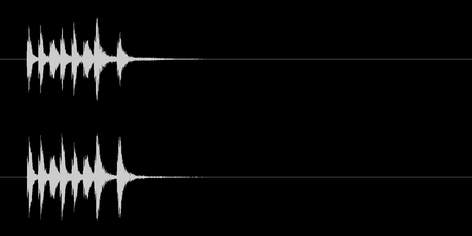 コーナー・エンド風セミクラのジングルの未再生の波形