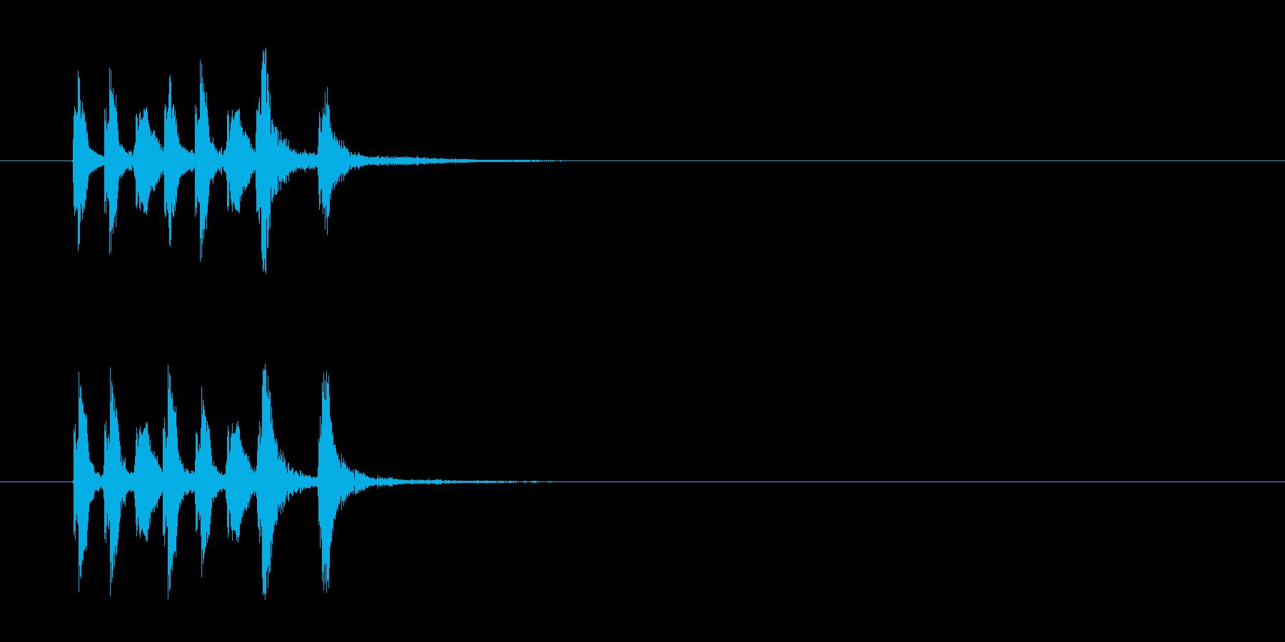 コーナー・エンド風セミクラのジングルの再生済みの波形