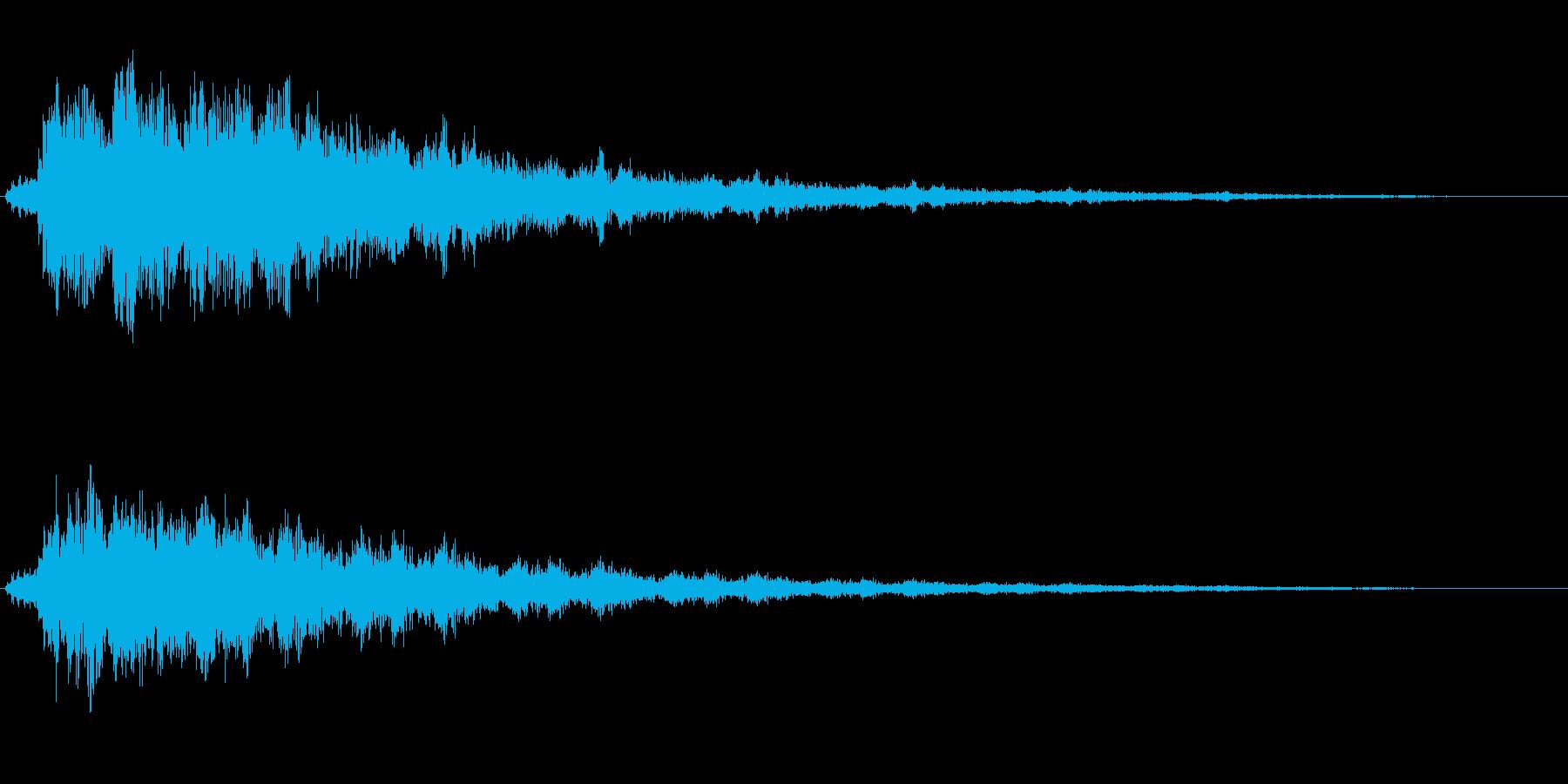コカァァ〜ン(眺めで不思議さを出す音)の再生済みの波形
