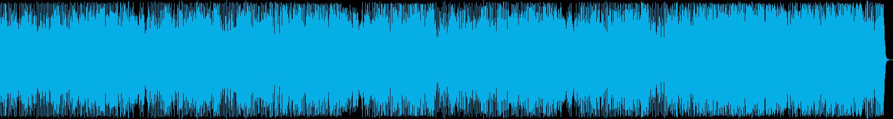 柔らかく楽しげなポップス曲の再生済みの波形