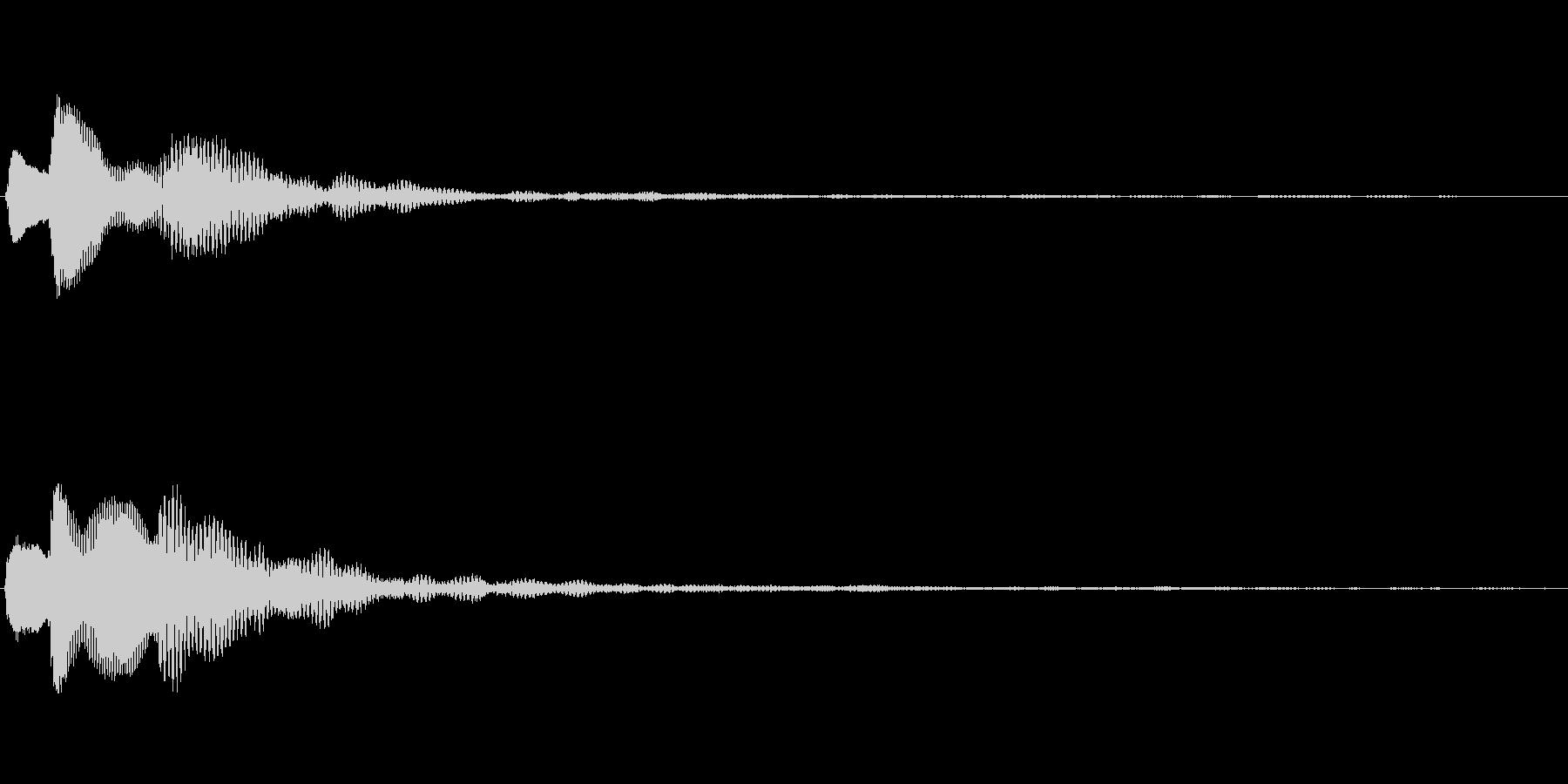 ピコリーン キャンセル音の未再生の波形