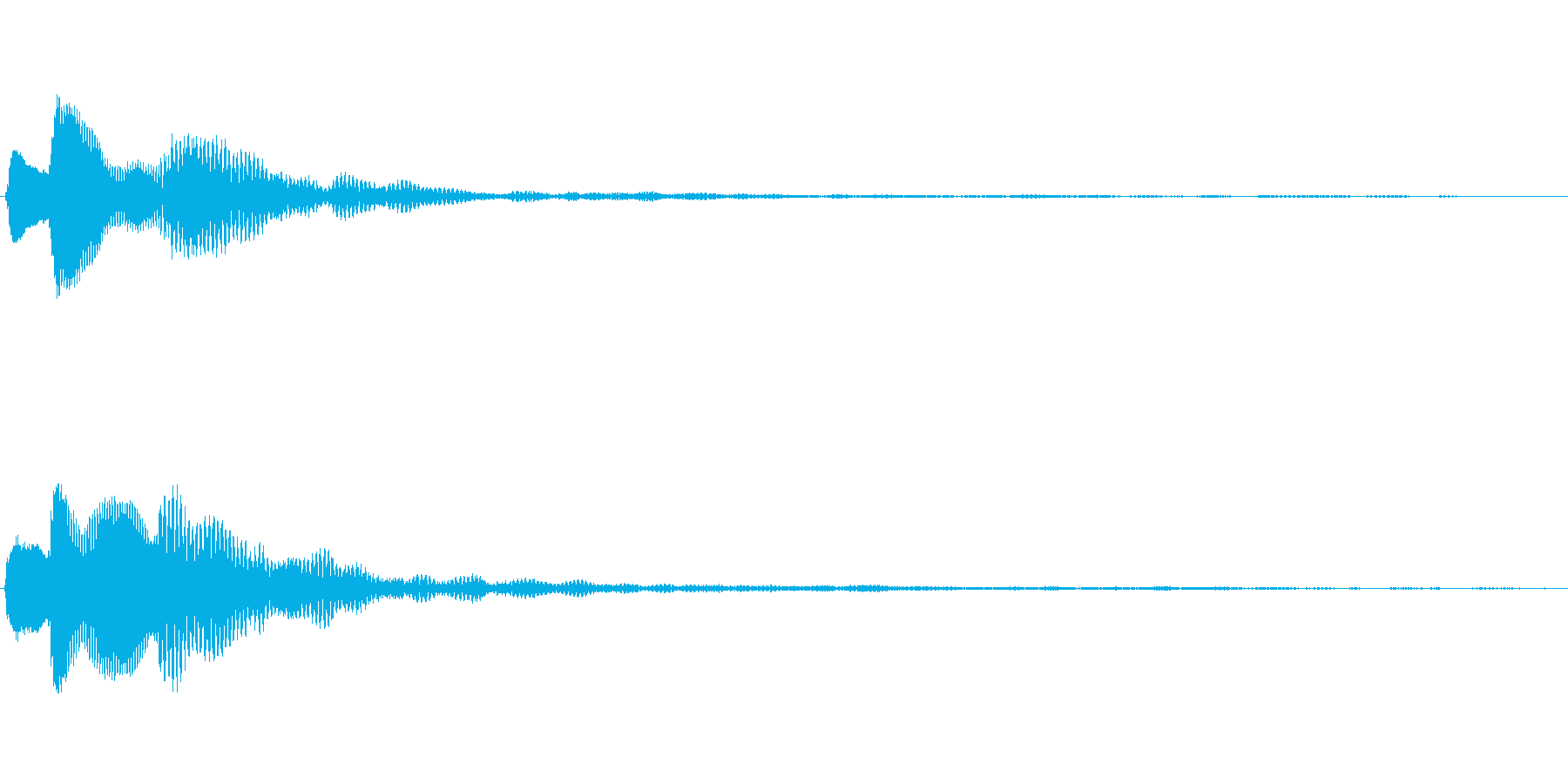ピコリーン キャンセル音の再生済みの波形