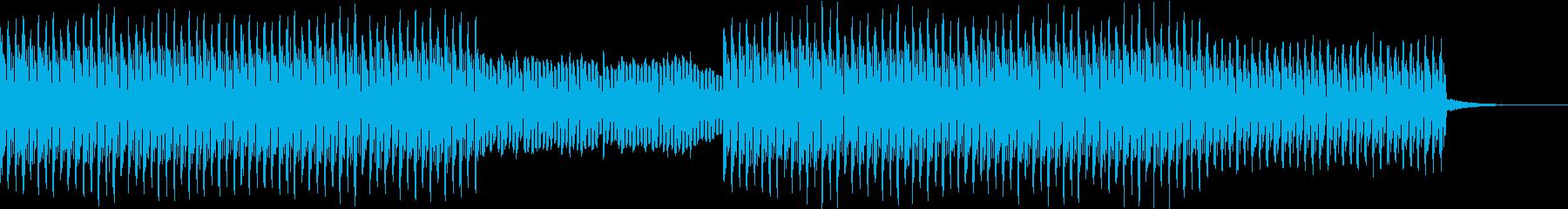 アップテンポな4つ打ちポップスの再生済みの波形