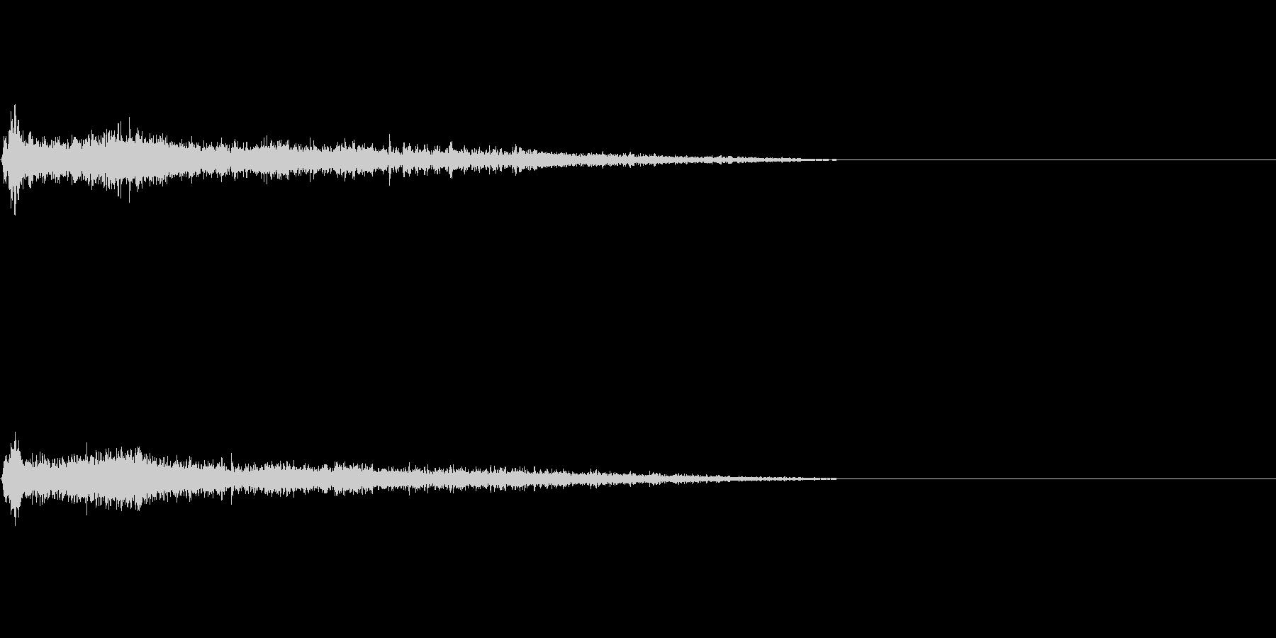A♯メジャー インパクト音 衝撃音の未再生の波形