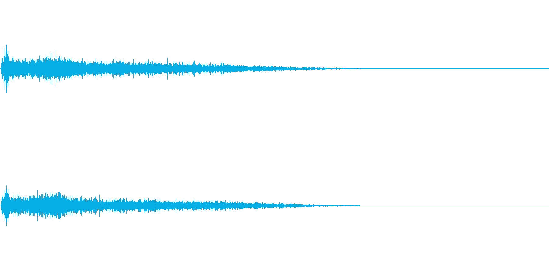 A♯メジャー インパクト音 衝撃音の再生済みの波形