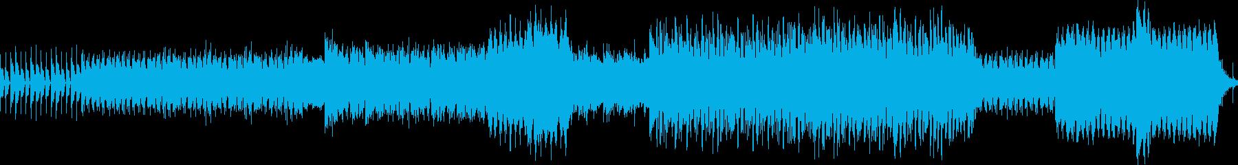 激しいビートのリリカルなポストロックの再生済みの波形