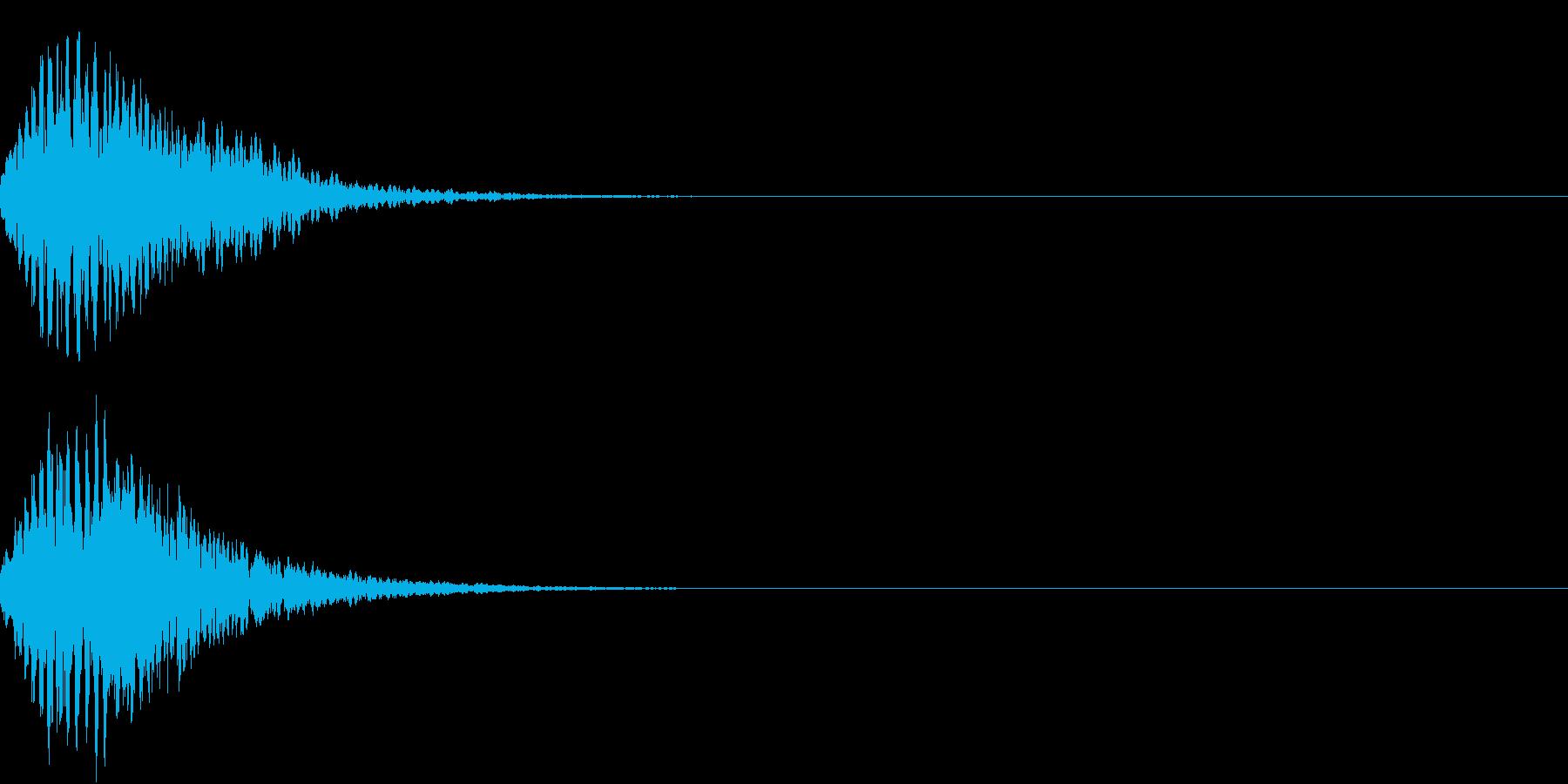 キュイン 光 ピカーン フラッシュ 07の再生済みの波形
