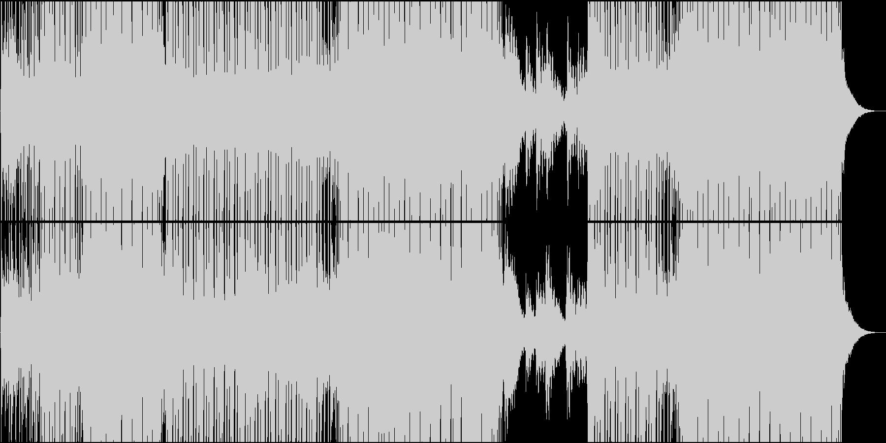 EDMシーケンスが爽やかなハウス系楽曲の未再生の波形