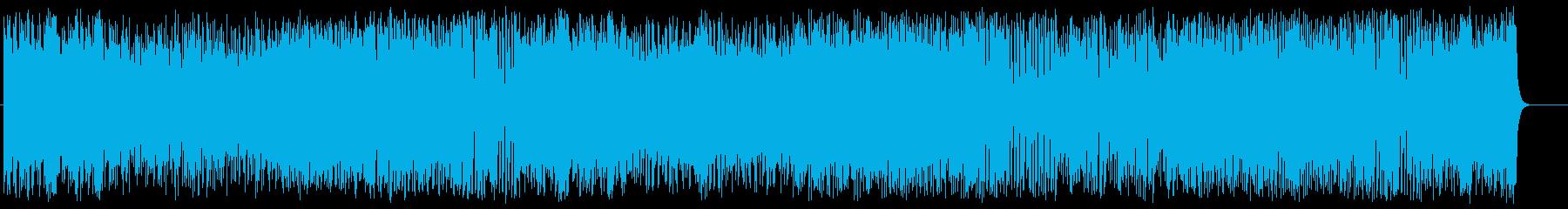 """期待を胸に""""ドキドキ""""飛び立つサウンドの再生済みの波形"""