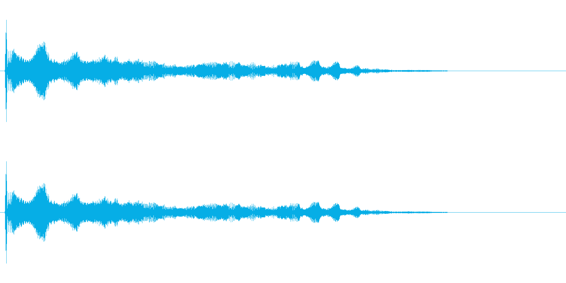 効果音、ボヨヨーン(ロング)、おっぱい…の再生済みの波形