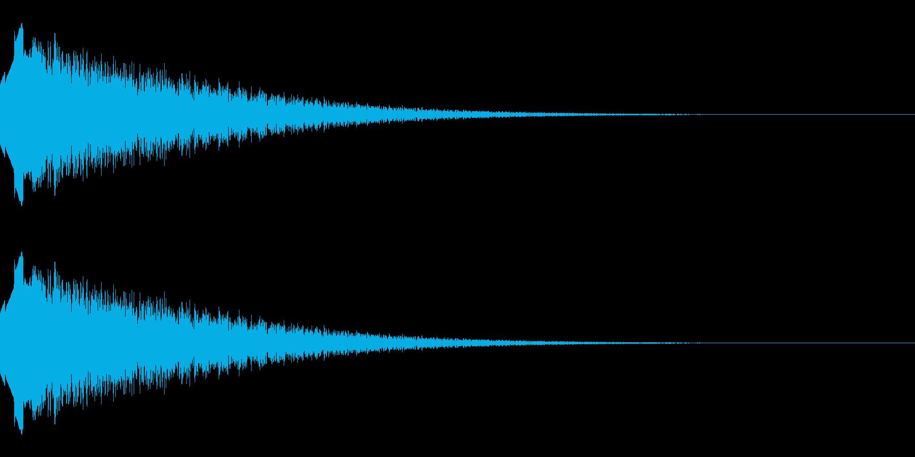 上昇するようなキラキラ音(経験値入手)の再生済みの波形