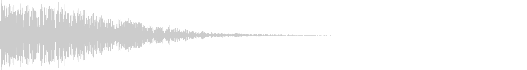 ホラー 衝撃 ドーン 驚き びっくり 4の未再生の波形