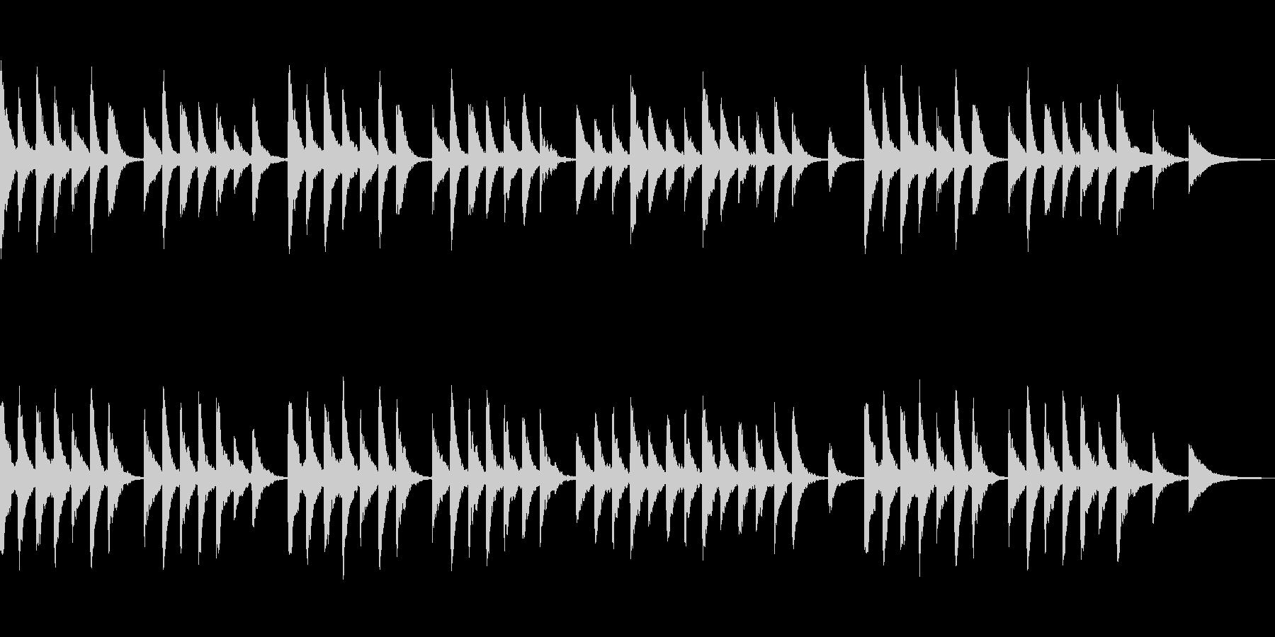 滅び 物語の終末の後 ローファイピアノの未再生の波形