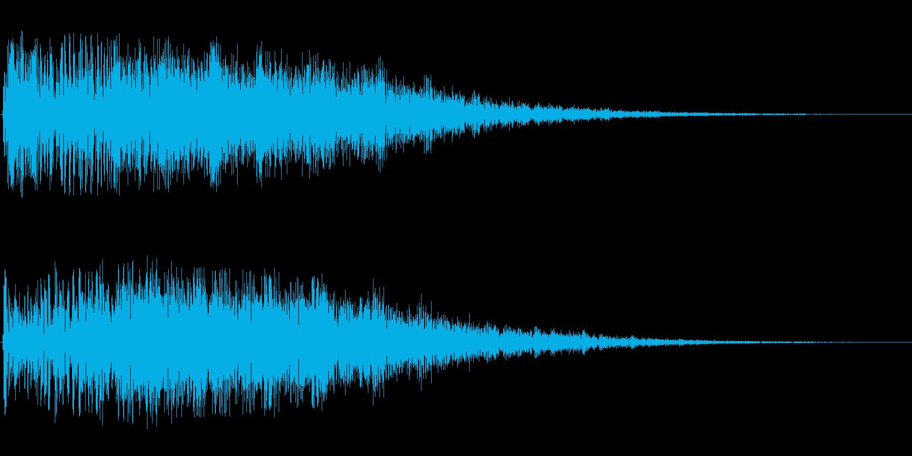 シャララ系アップ(余韻長め)の再生済みの波形