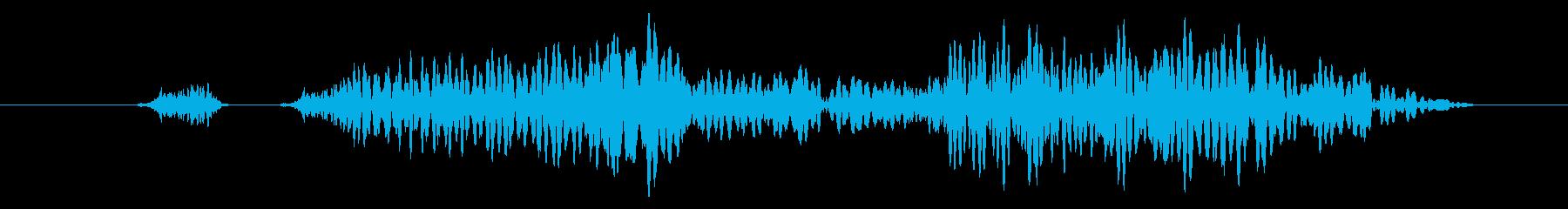 可愛いキャンセル/戻る/選択不可の効果音の再生済みの波形