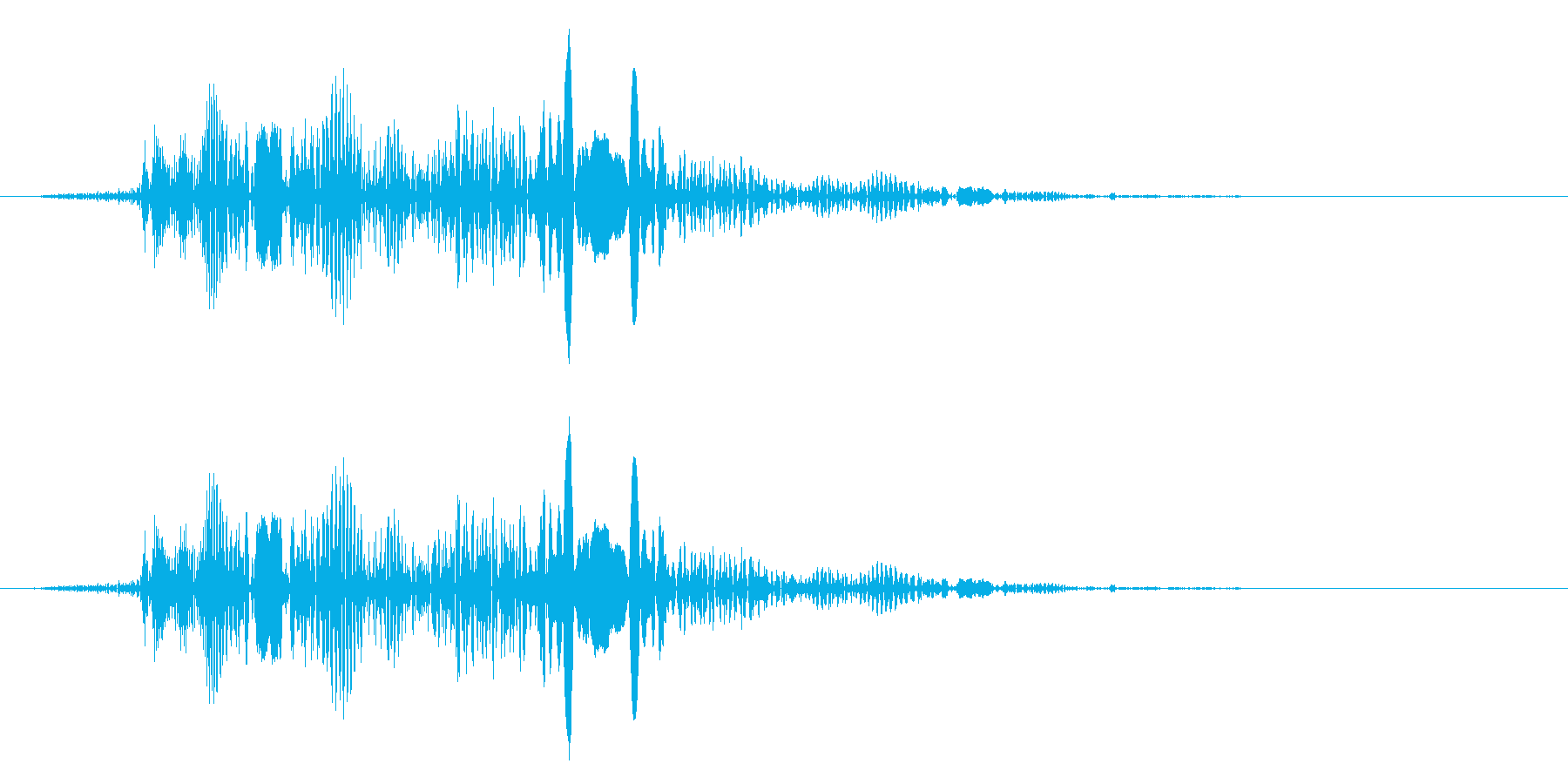 キャンセルボタン(ピャッ)の再生済みの波形