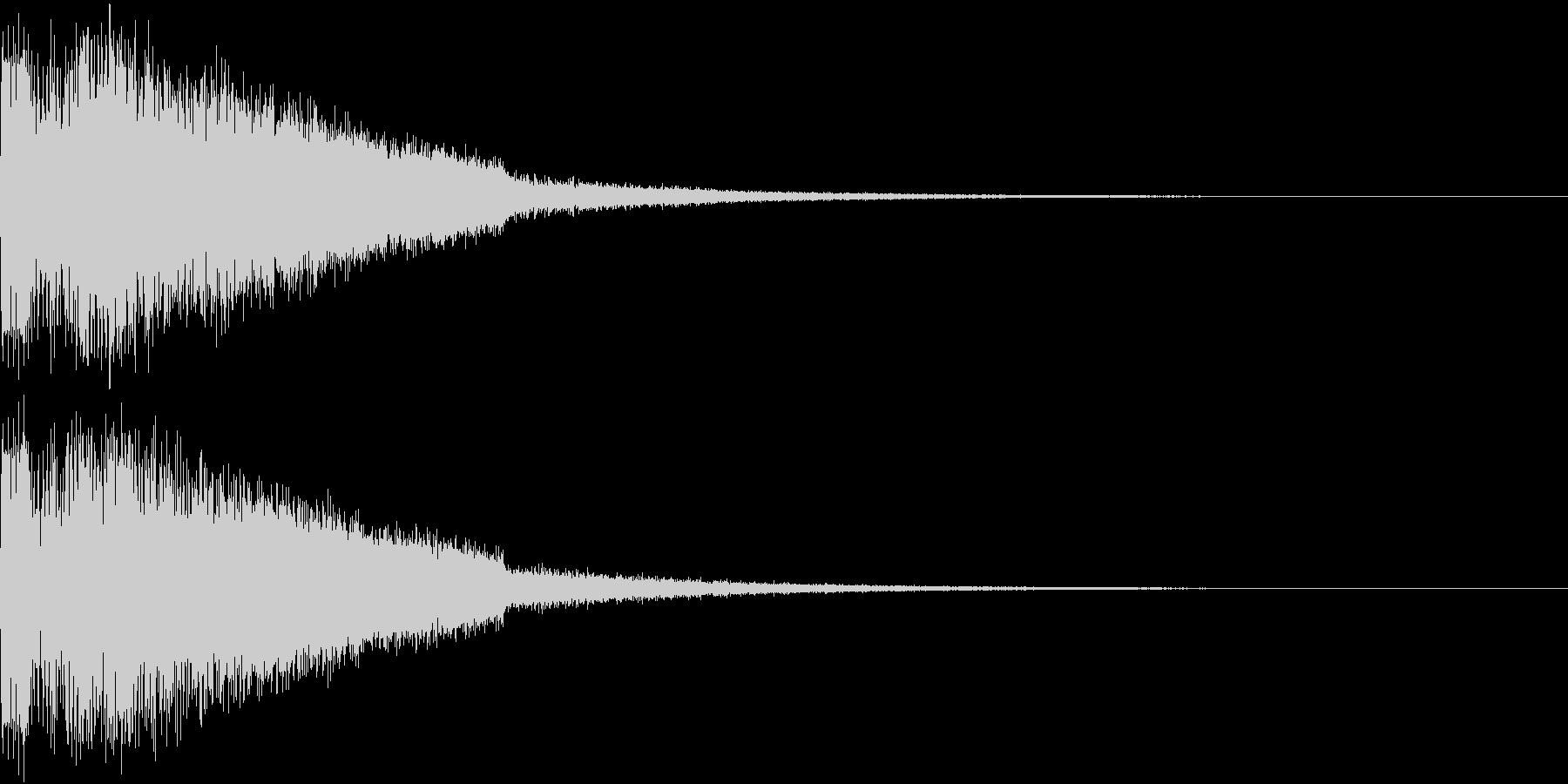 ピキューン ジャンプ ポヨーン Bの未再生の波形