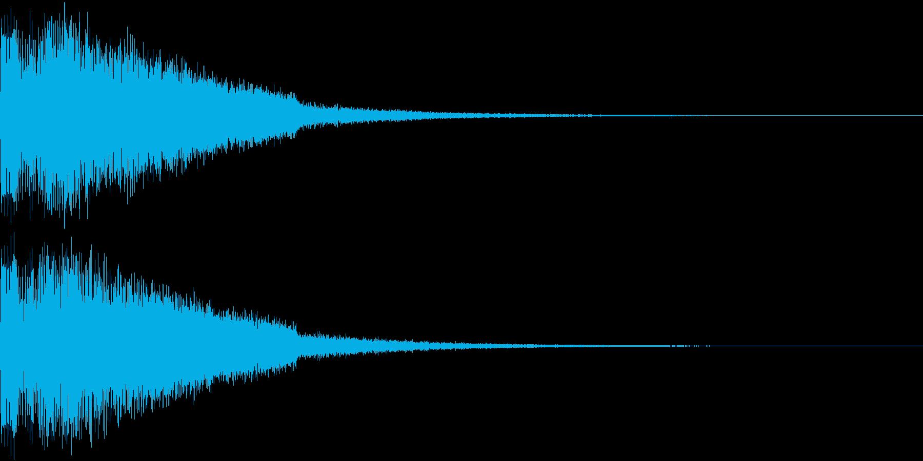 ピキューン ジャンプ ポヨーン Bの再生済みの波形