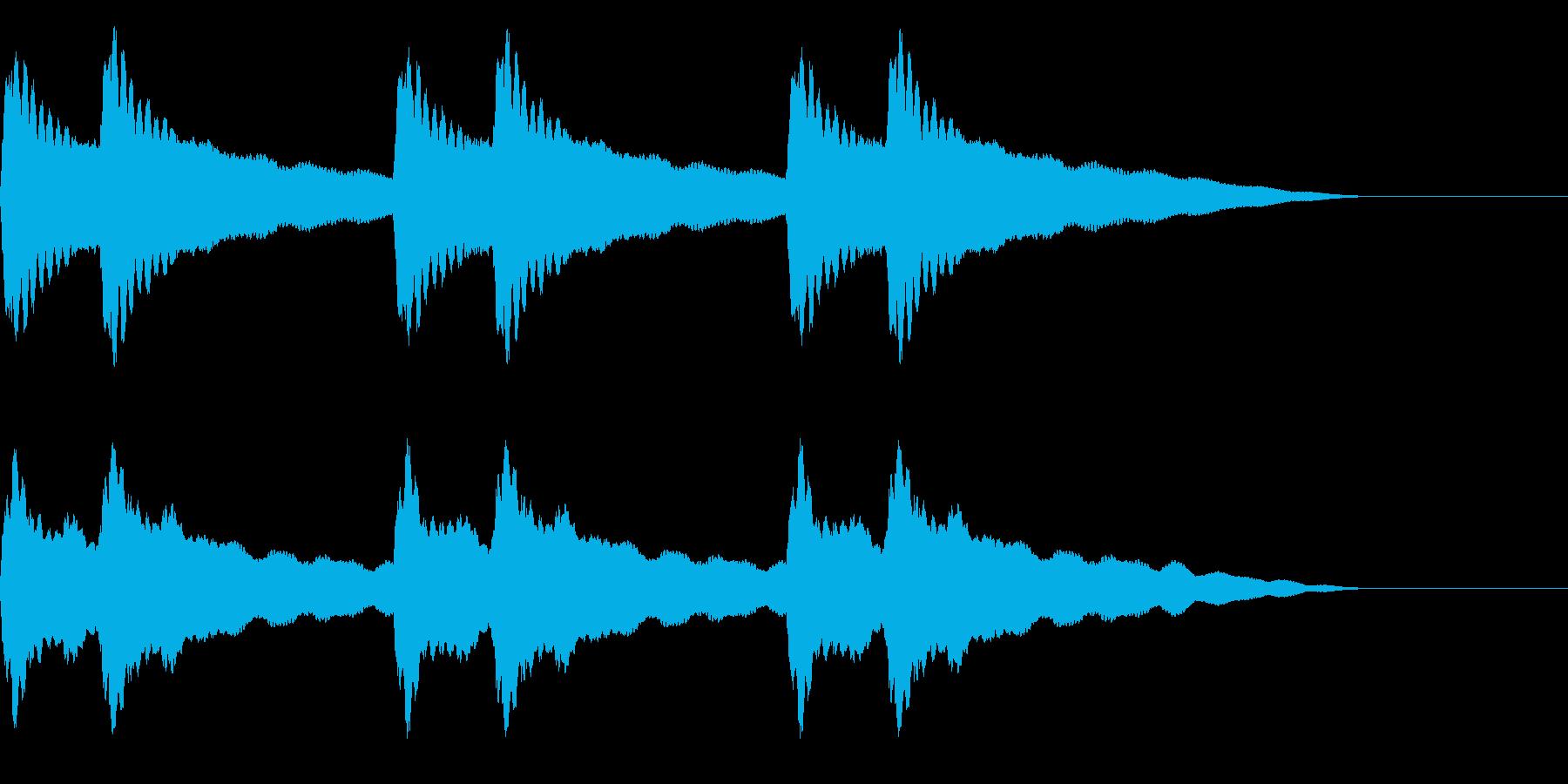 チリーンチリーン☆洋風学校のチャイム音の再生済みの波形
