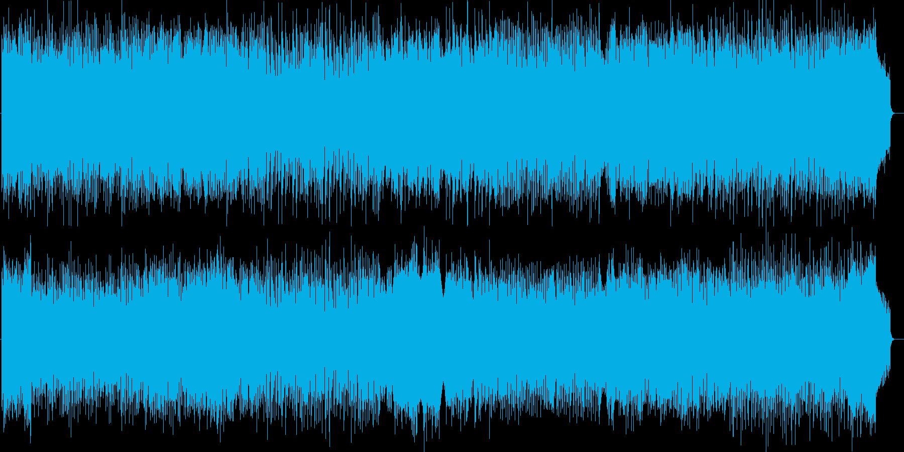 弾けるテンポのシンセサイザーサウンドの再生済みの波形