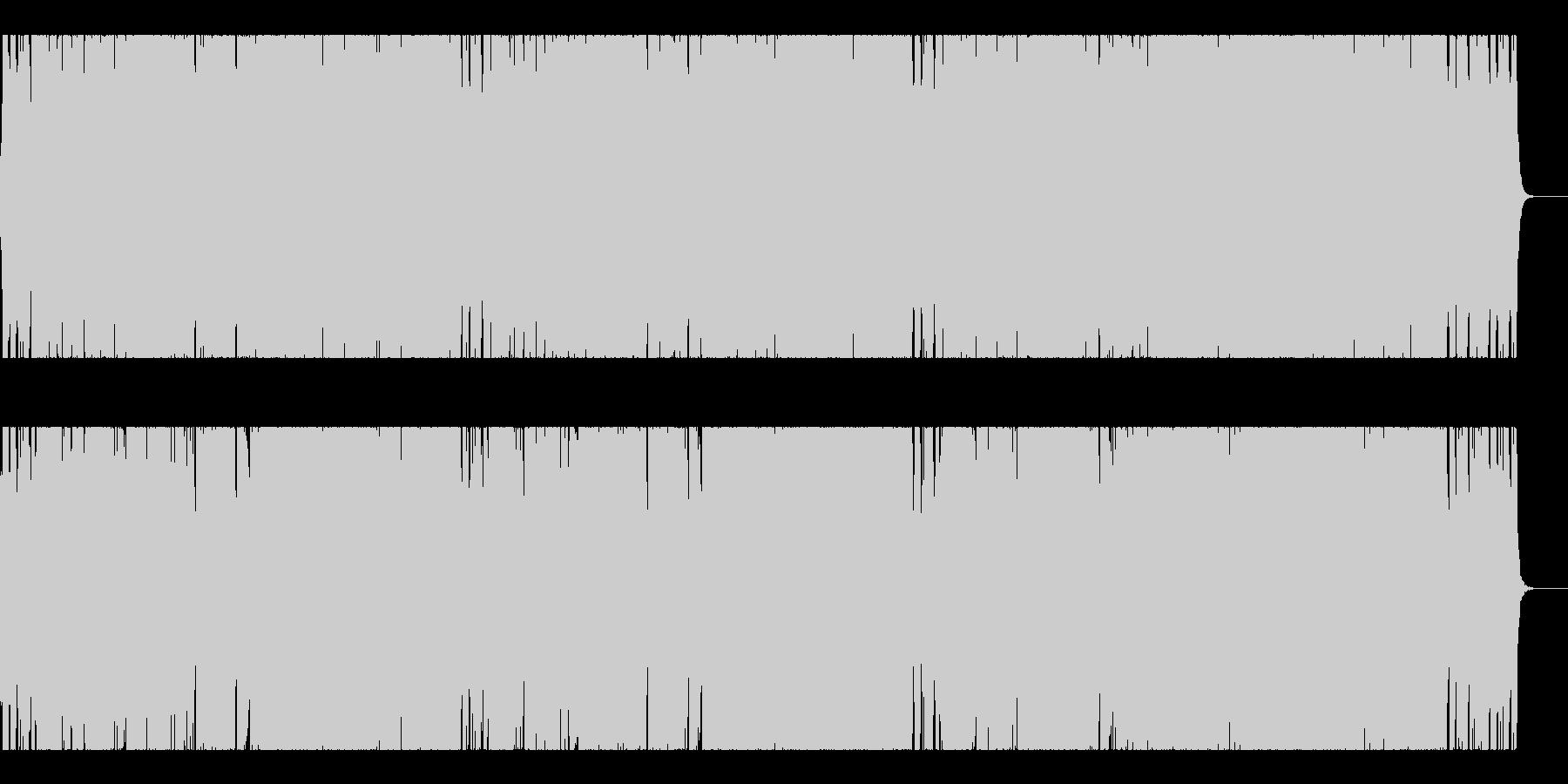 ダークなメタル系で激しいチョッパーの未再生の波形