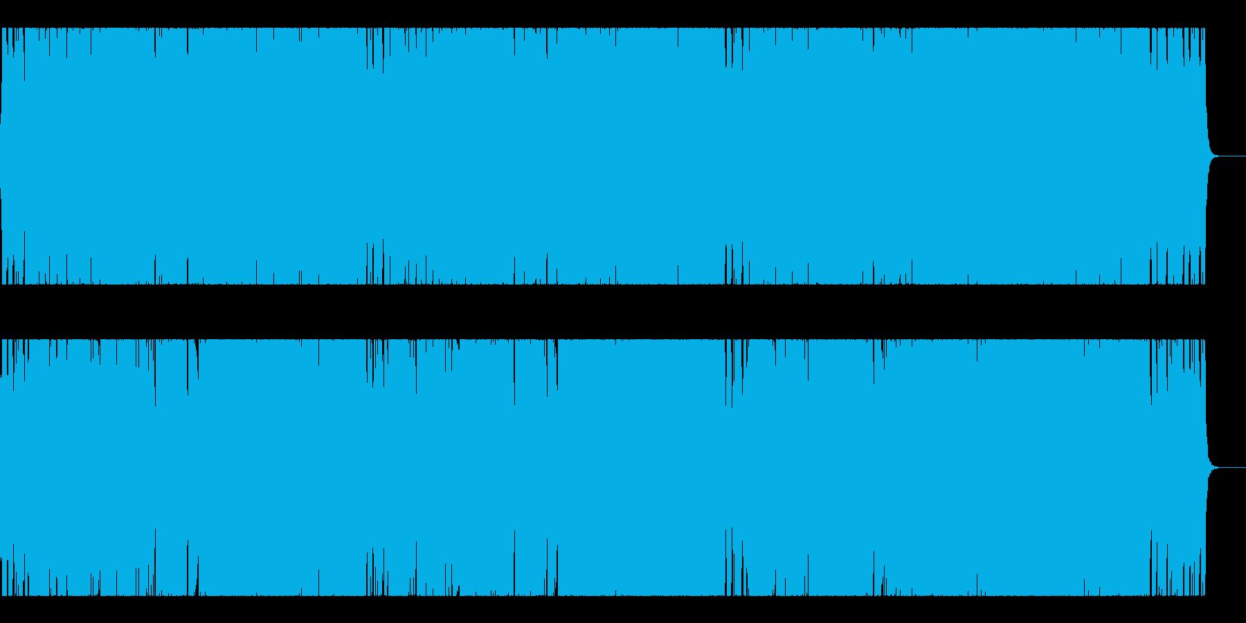 ダークなメタル系で激しいチョッパーの再生済みの波形