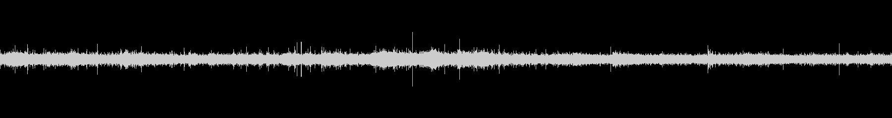 バイノーラル録音で肉を焼く音の未再生の波形