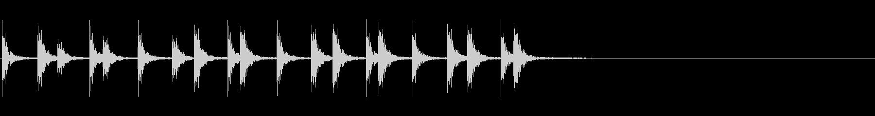 相撲などの触れ太鼓「大拍子」フレーズ音2の未再生の波形