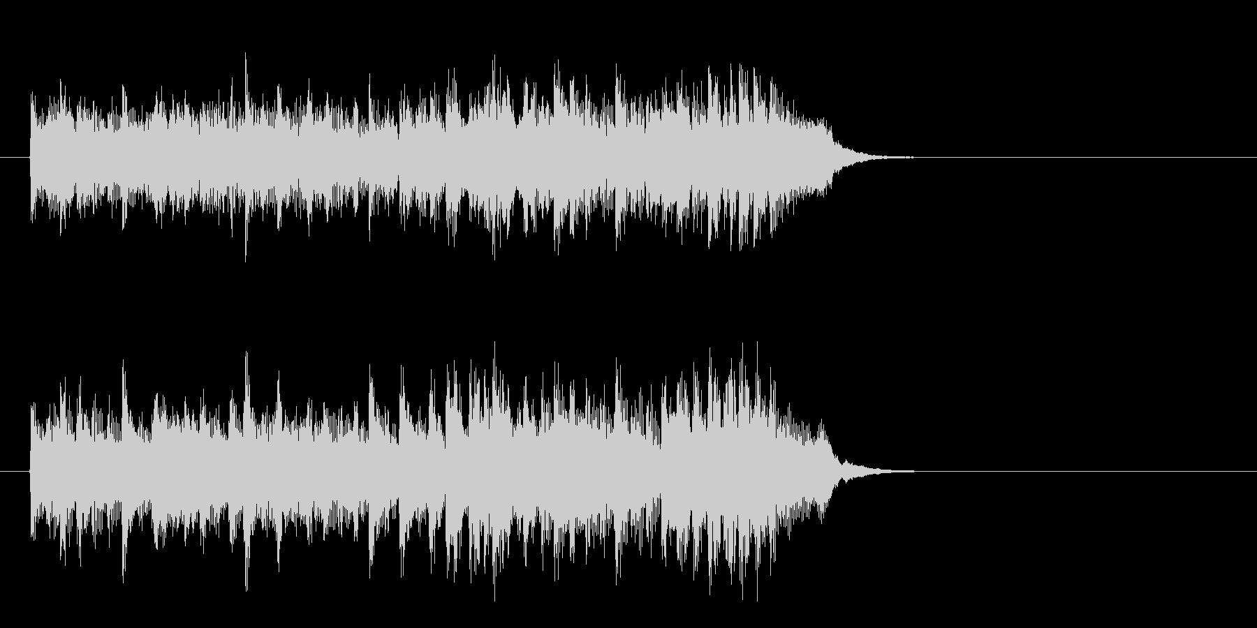 爽やかな歌謡曲風ポップス(イントロ)の未再生の波形