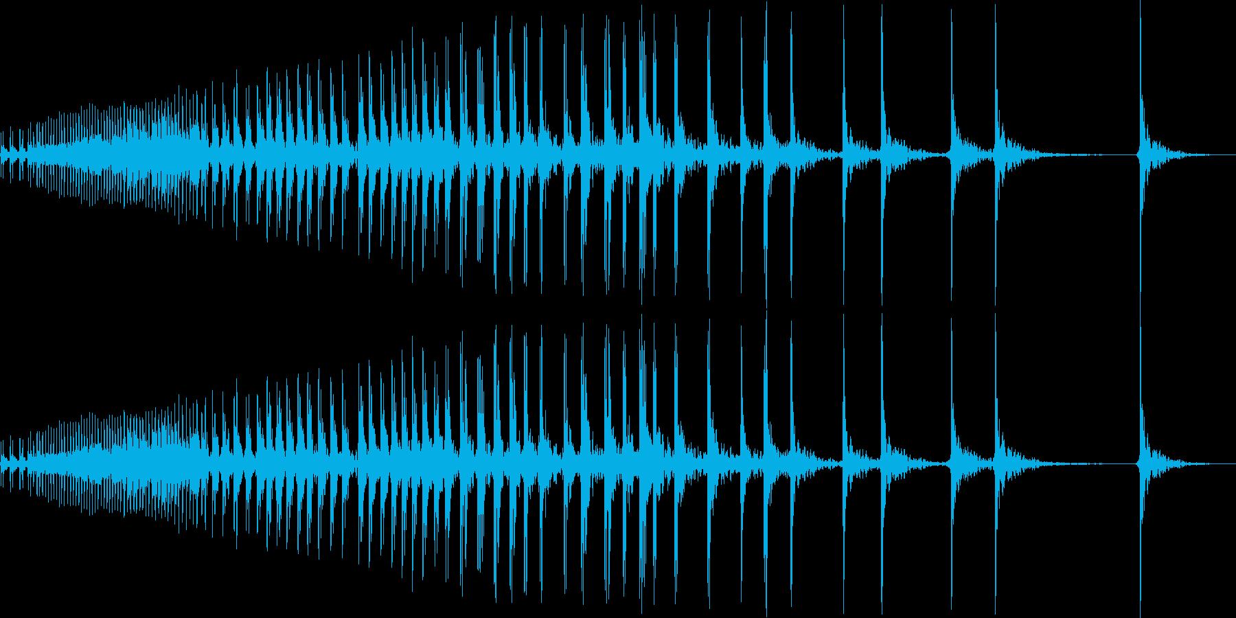ぎぃいいい(立て付けの悪い開閉式ドア)の再生済みの波形