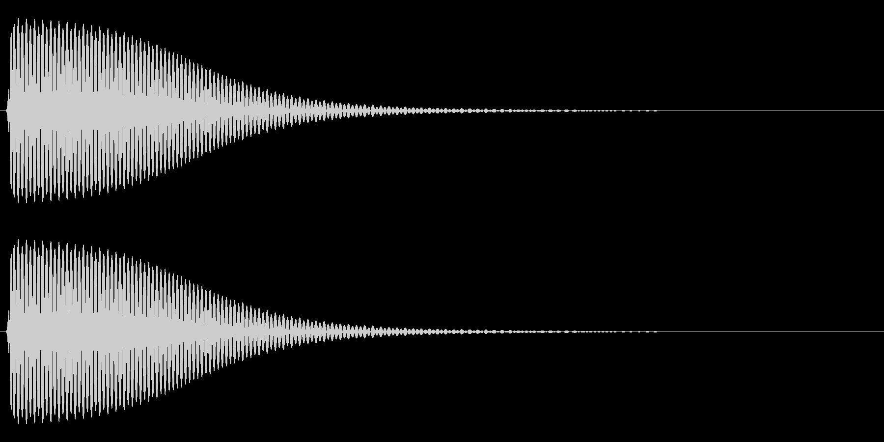 Com ファミコンなどのコマンド音 9の未再生の波形