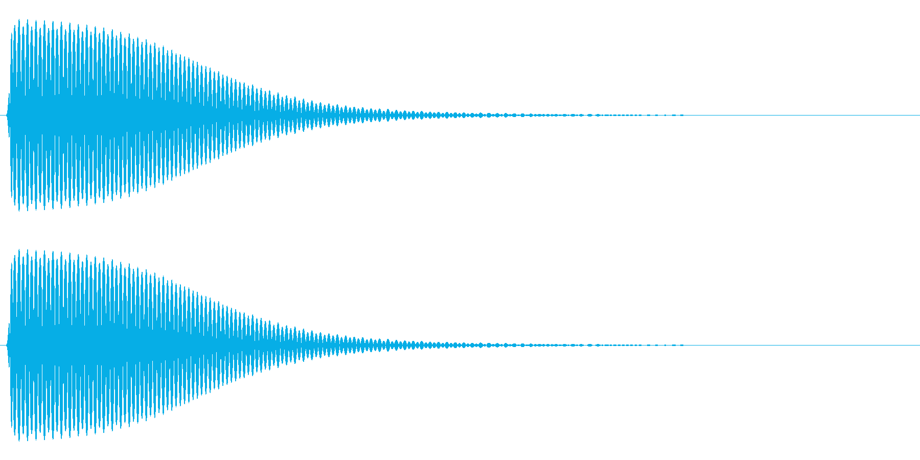 Com ファミコンなどのコマンド音 9の再生済みの波形