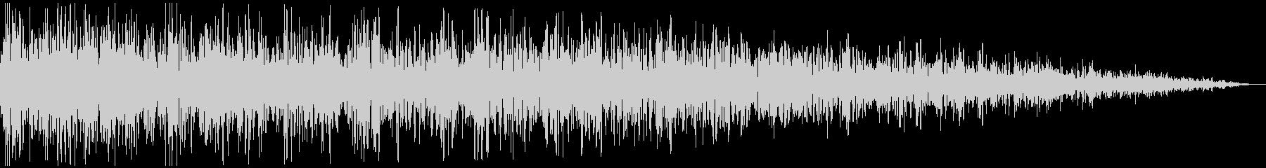 ガーン (ショック、衝撃を受ける) 短めの未再生の波形