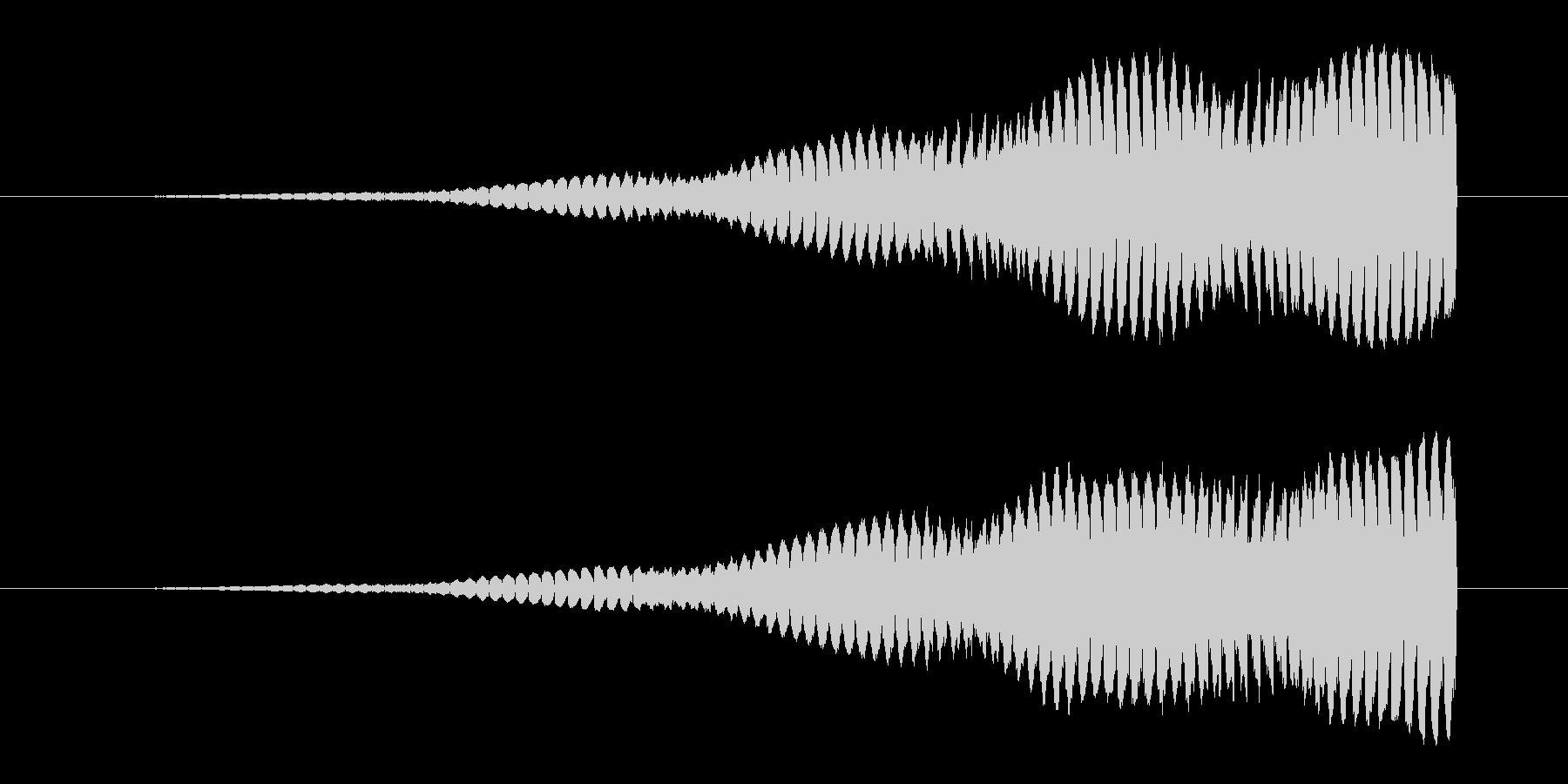 不安を煽る上昇音2の未再生の波形