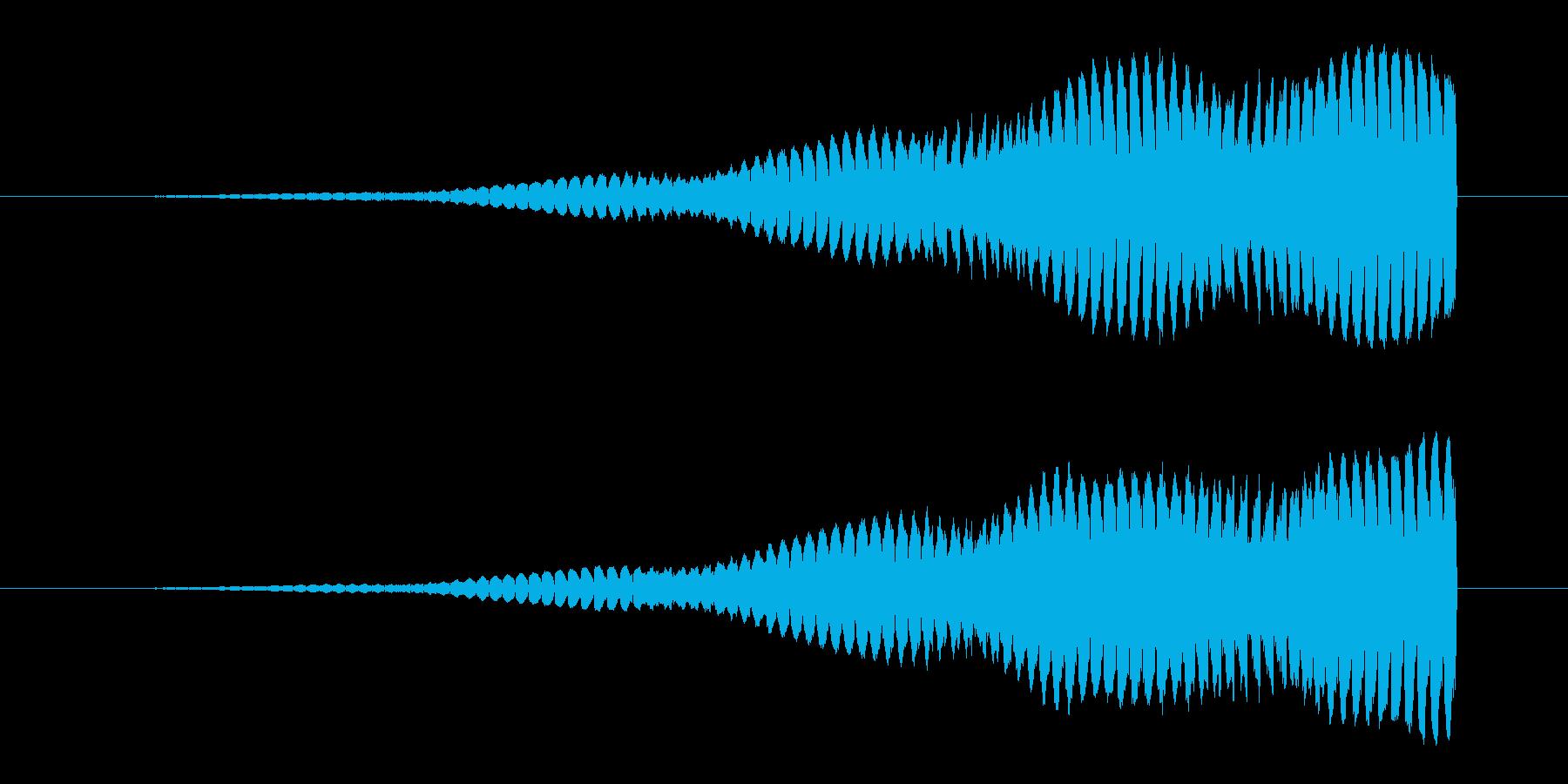 不安を煽る上昇音2の再生済みの波形