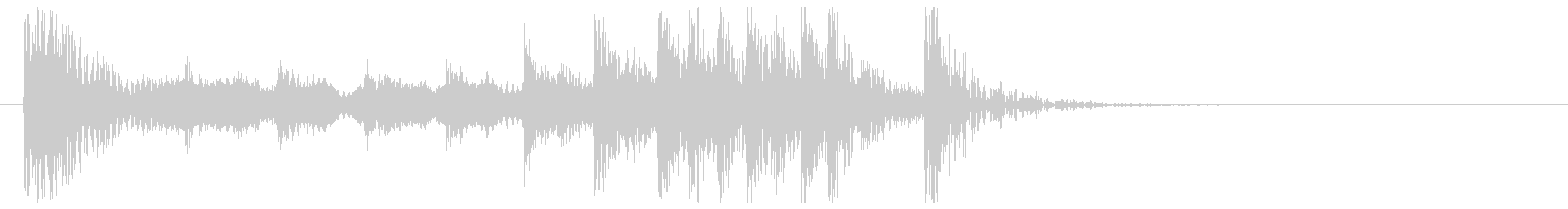 これぞ和風3(尺八、和太鼓)の未再生の波形
