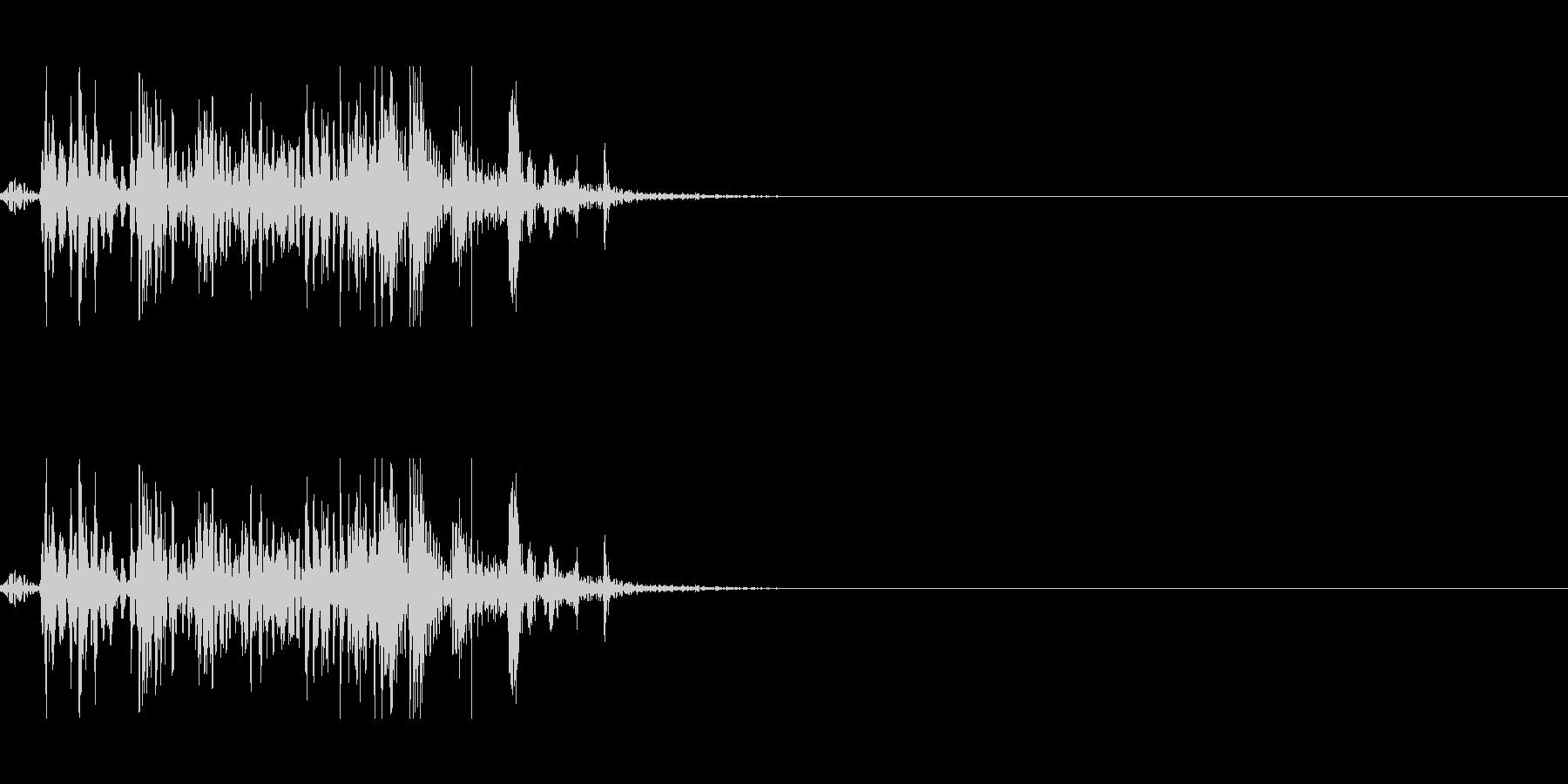 弾む音 2の未再生の波形