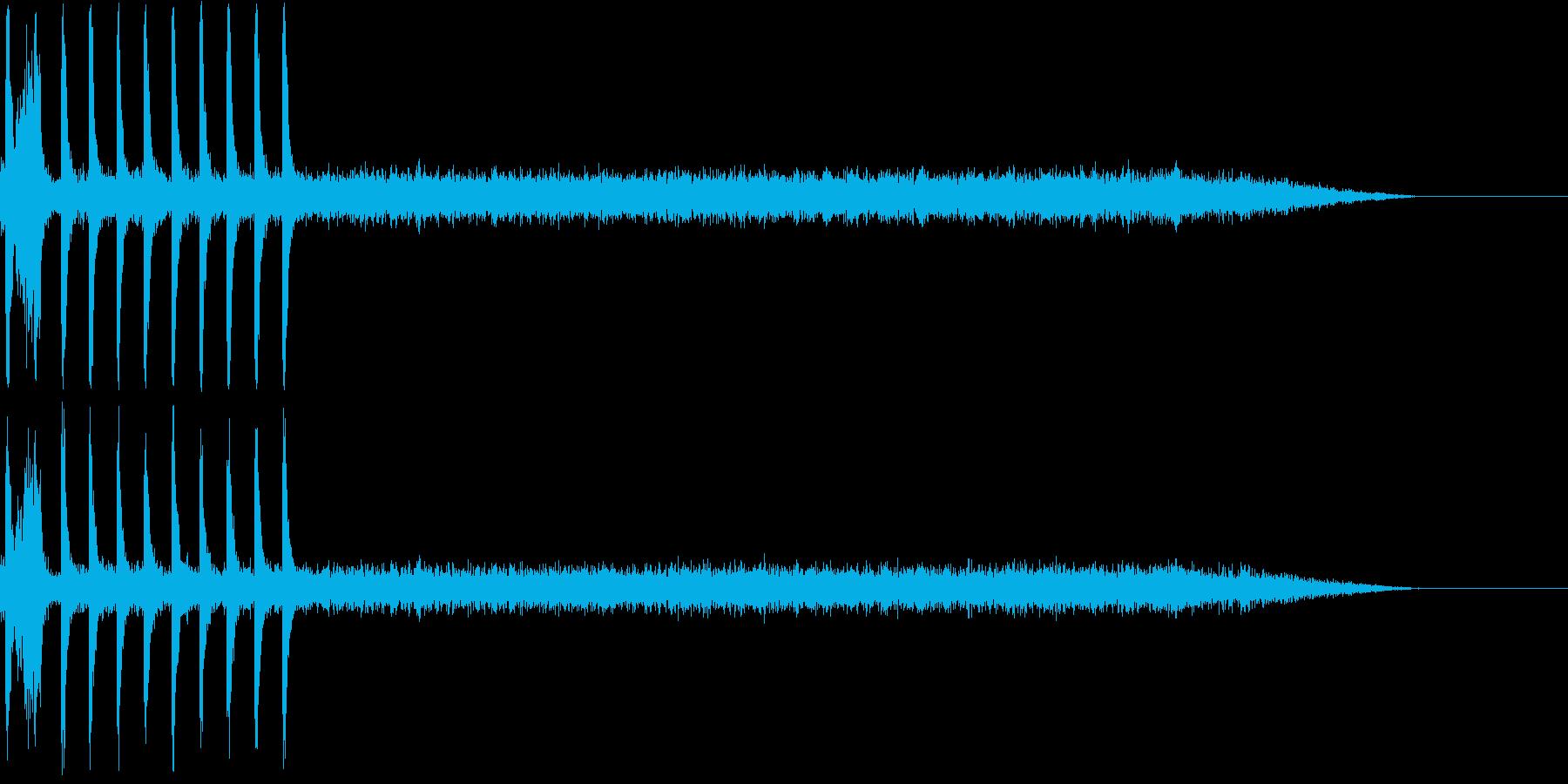 ガスコンロの再生済みの波形