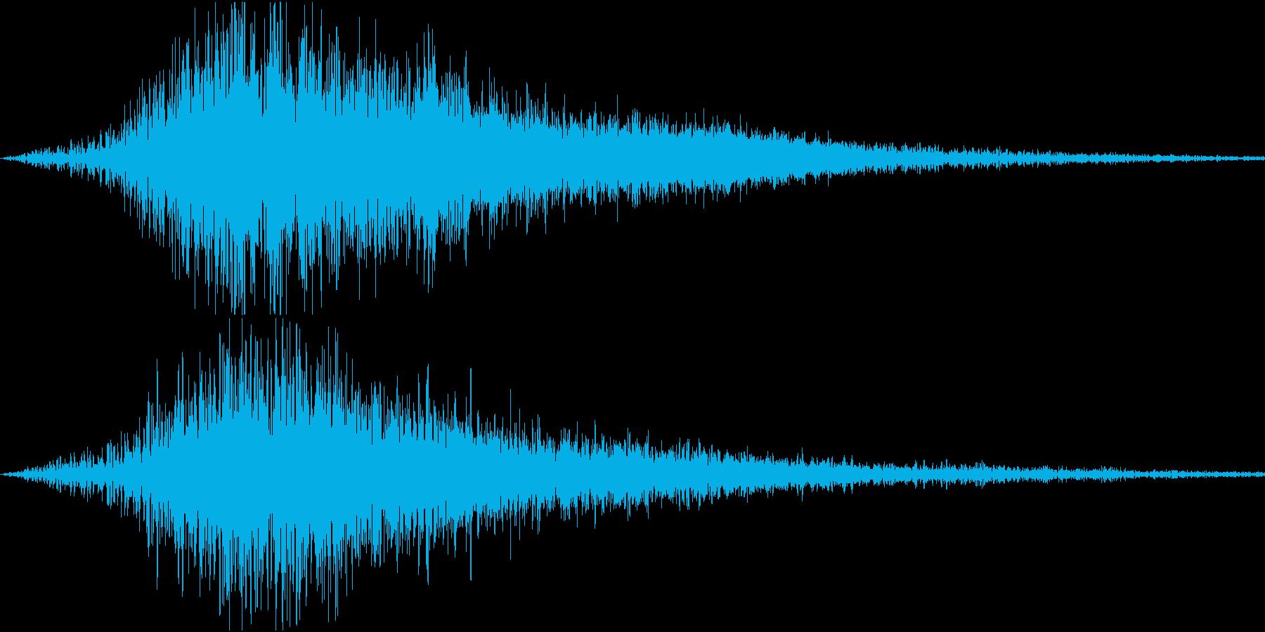 ロゴや転換のトランジション1-シュワーンの再生済みの波形