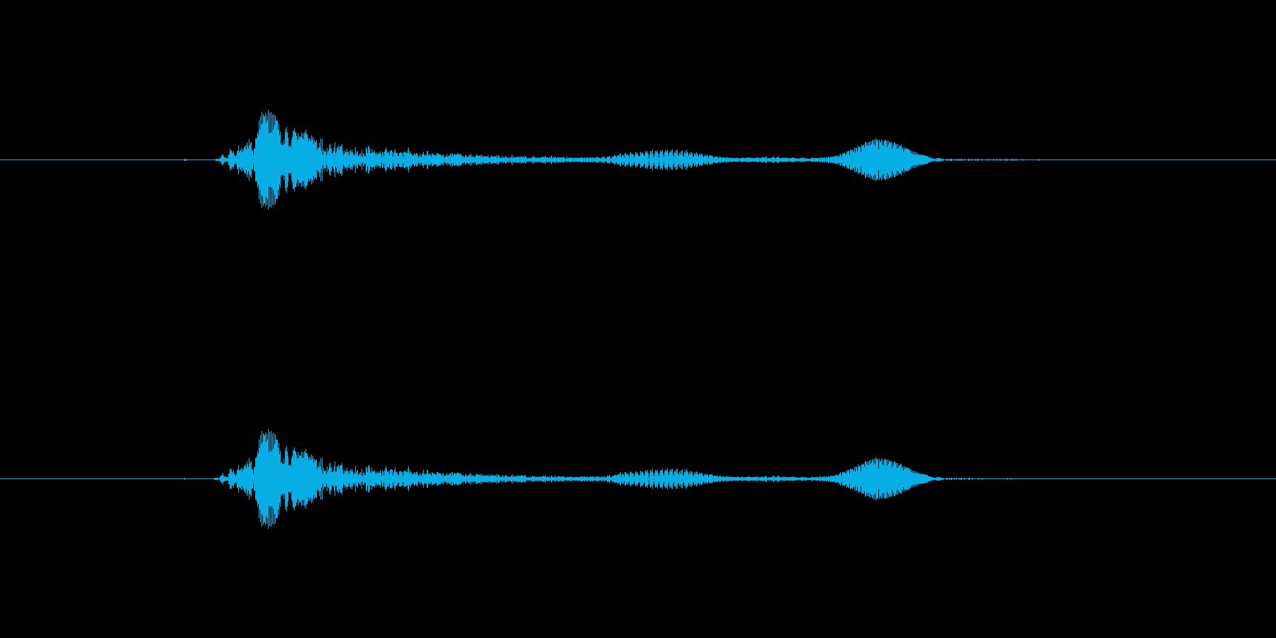 「えへへ」の再生済みの波形