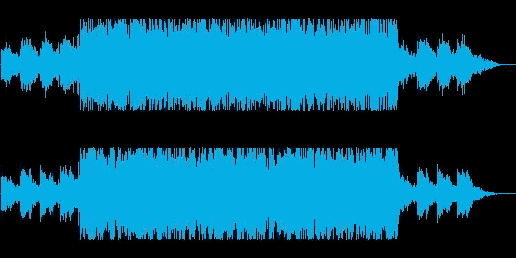 優しく美しいシンセサイザーピアノサウンドの再生済みの波形