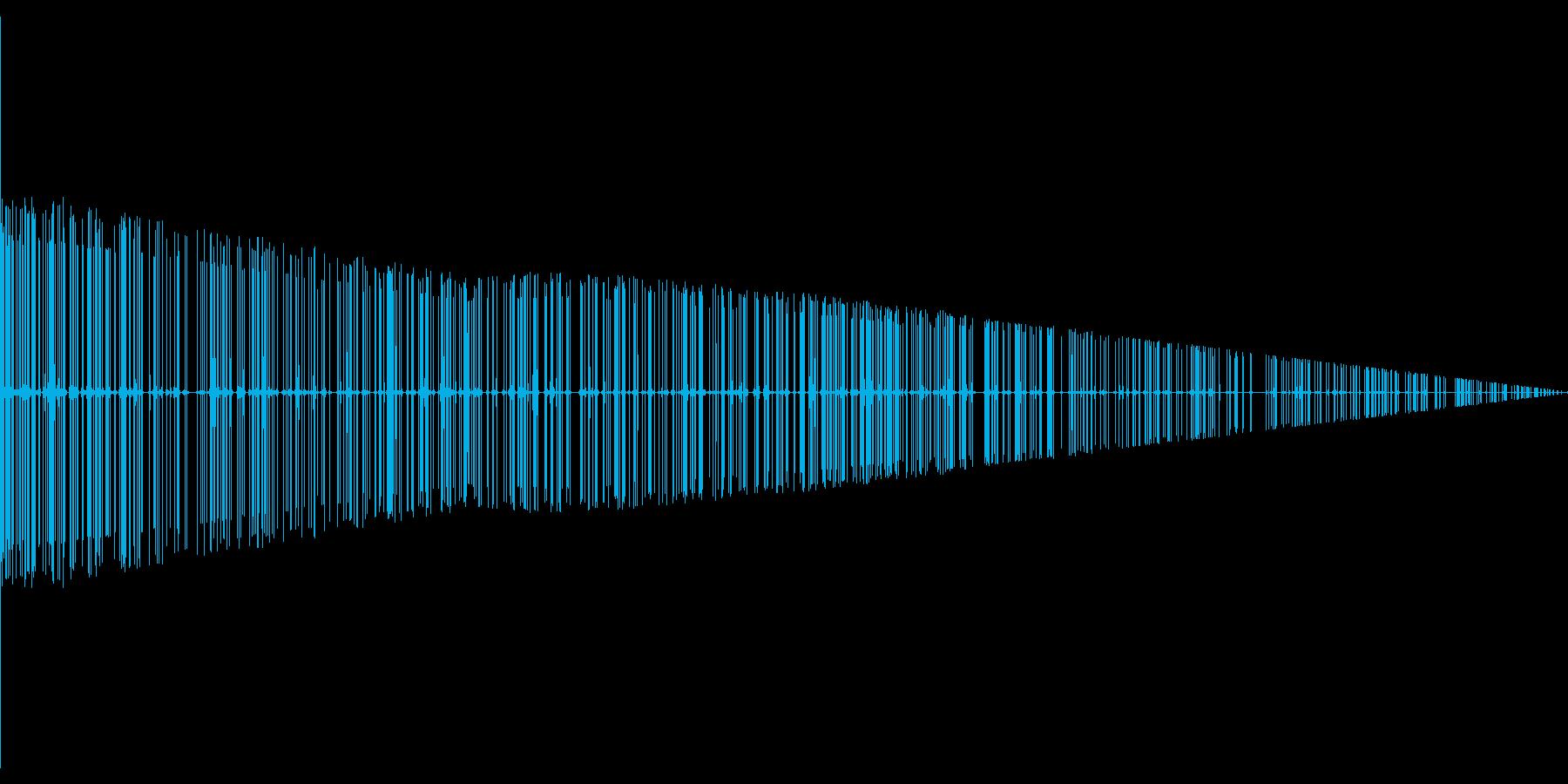 ノイズ音の再生済みの波形