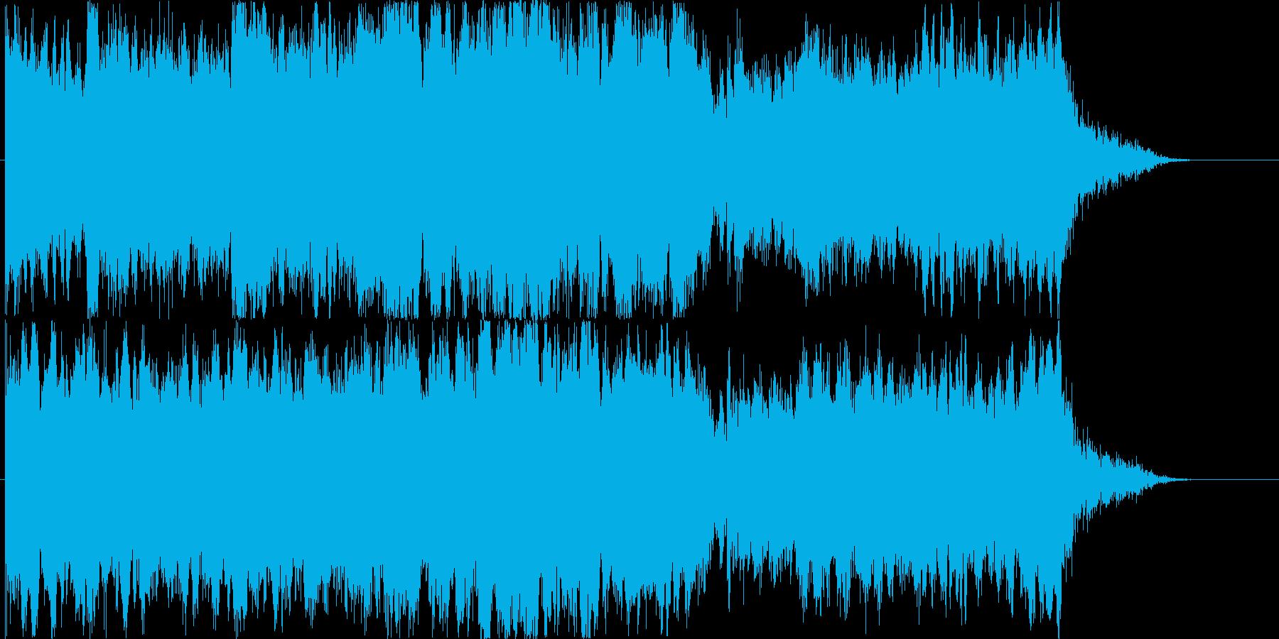 神秘的で荘厳な雰囲気のオーケストラ曲の再生済みの波形
