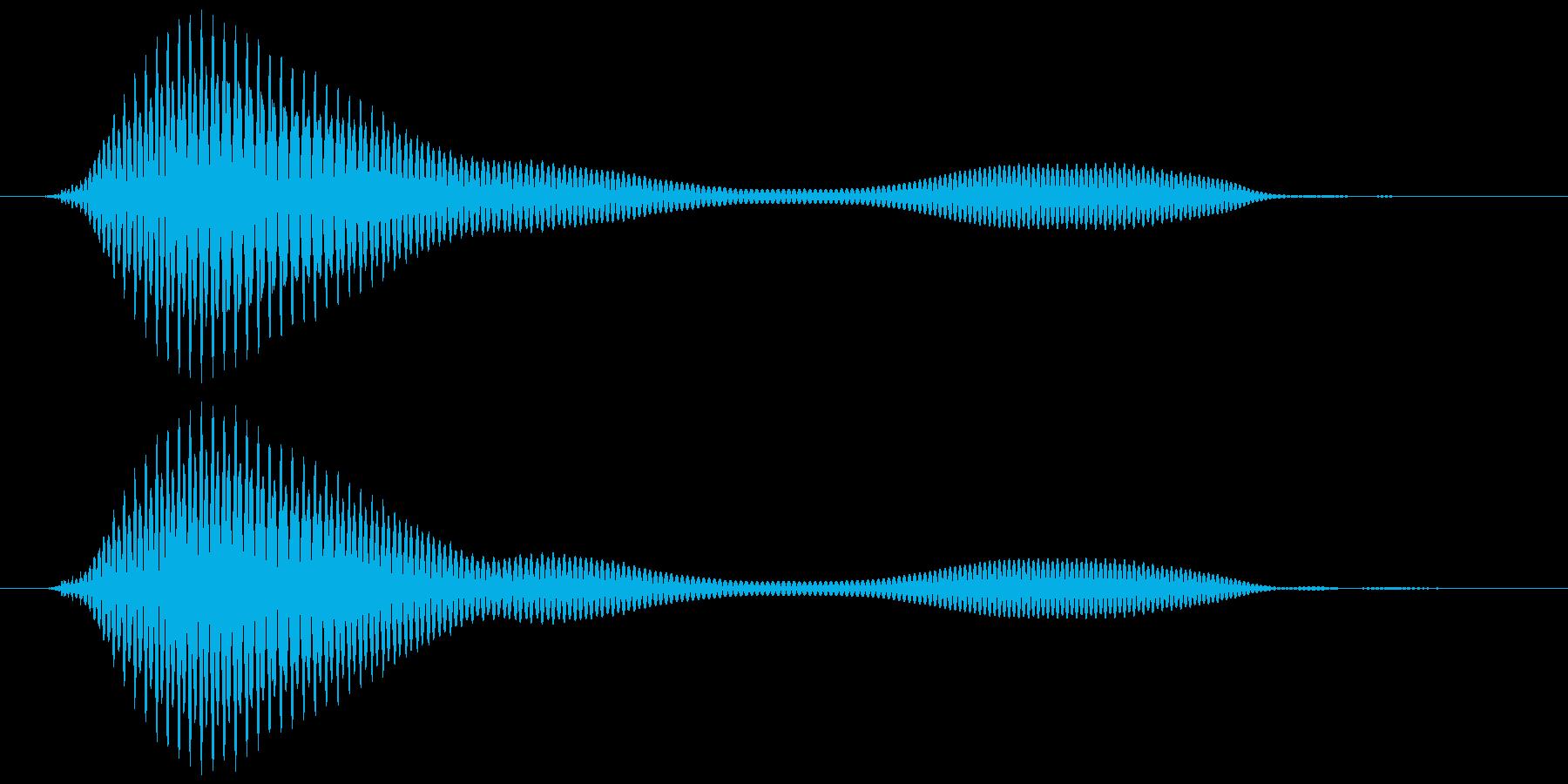 おなら、屁  (すかしっ屁) プフゥッの再生済みの波形