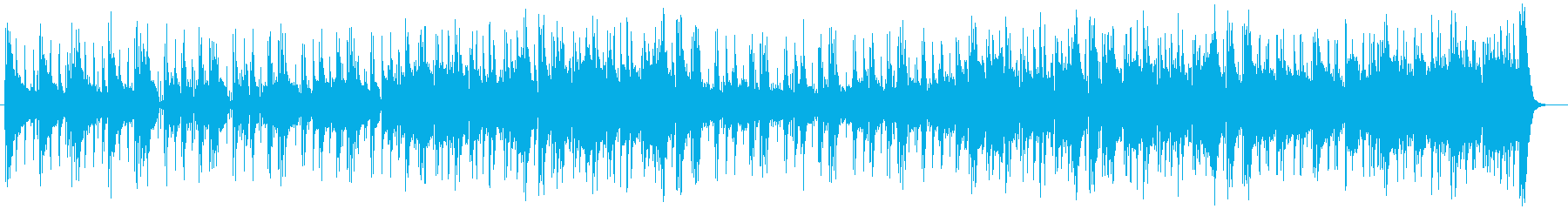 エレキギターなどの落ち着いたポップスの再生済みの波形