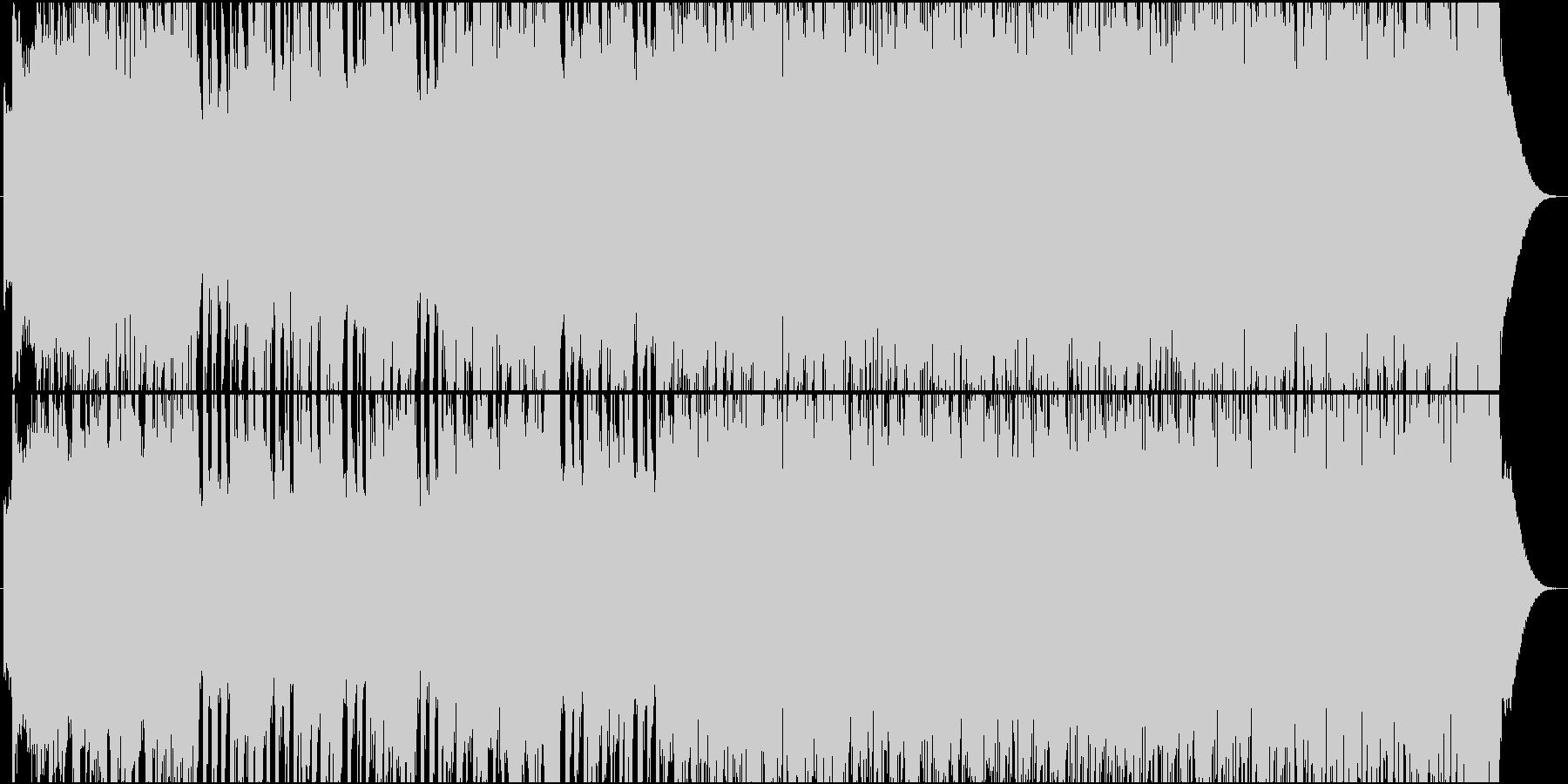 メタル風のワイルドなロックの未再生の波形